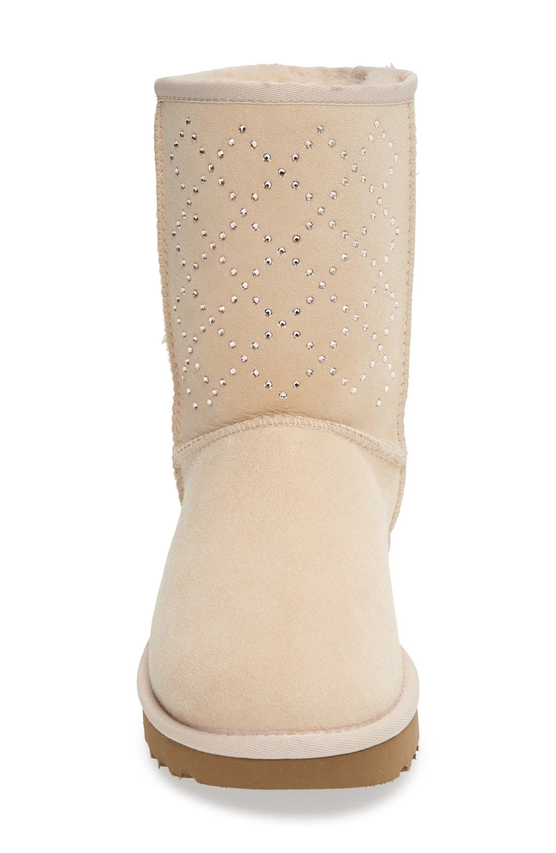 Alternate Image 3  - UGG® Classic Short - Crystal Genuine Shearling Lined Boot (Women)