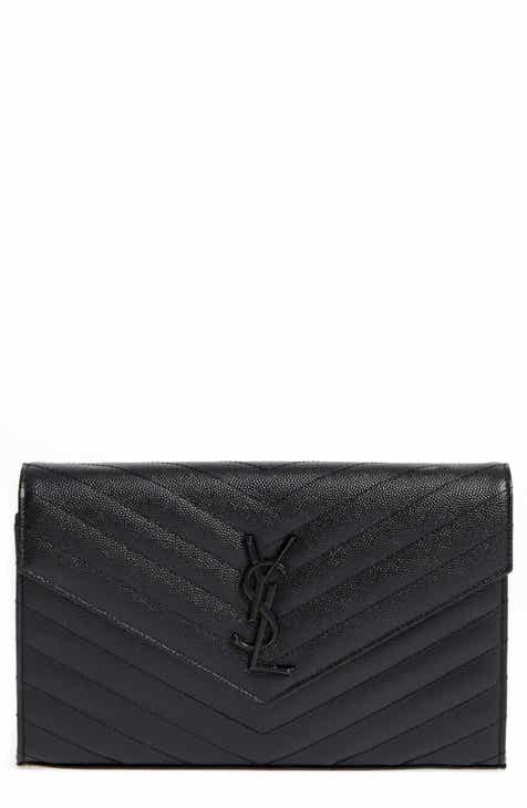 Saint Laurent Monogram Quilted Leather Wallet on a Chain a3d0d553e0f98