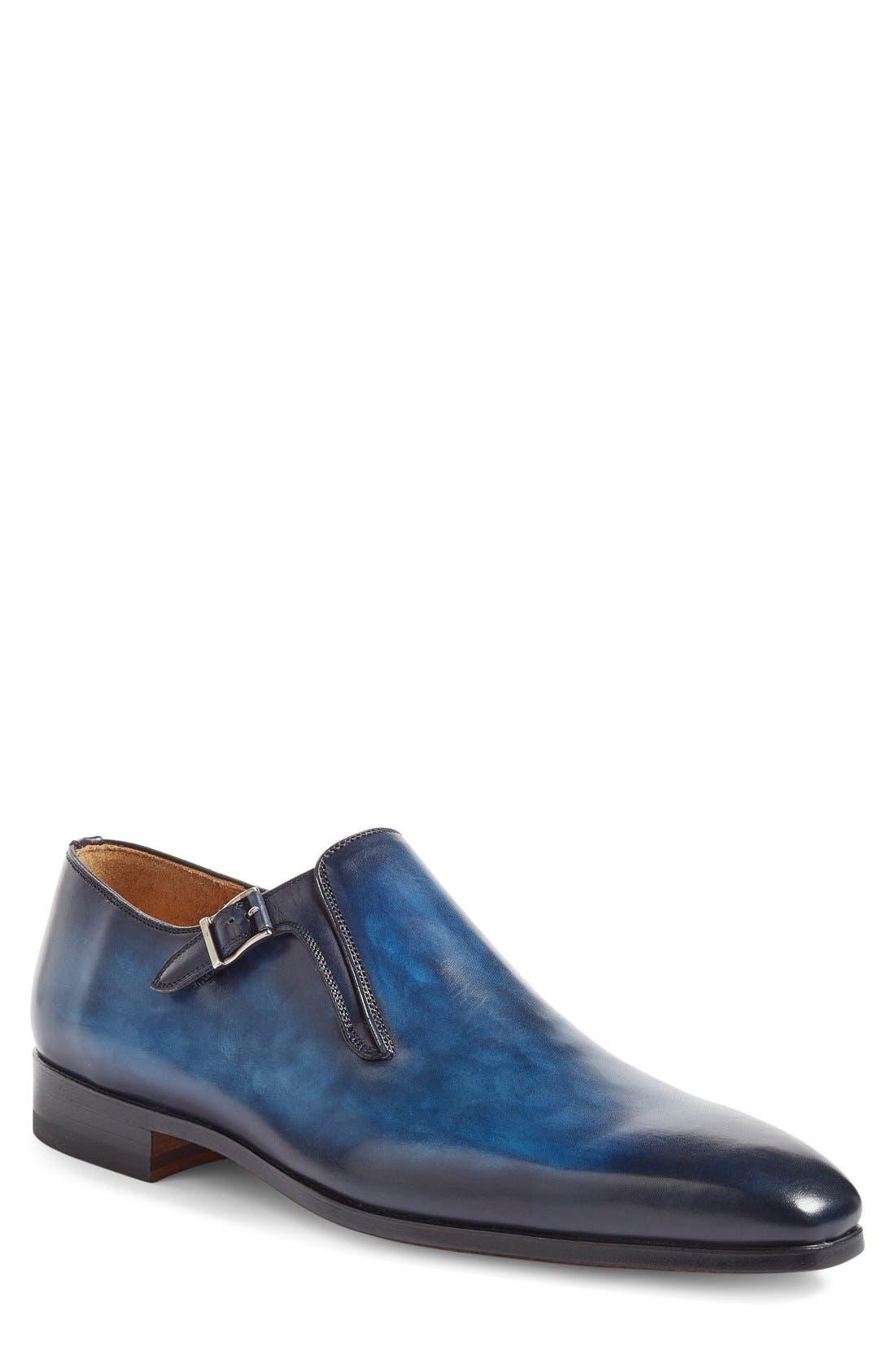 Beltran Monk Strap Shoe,                             Main thumbnail 1, color,                             Navy