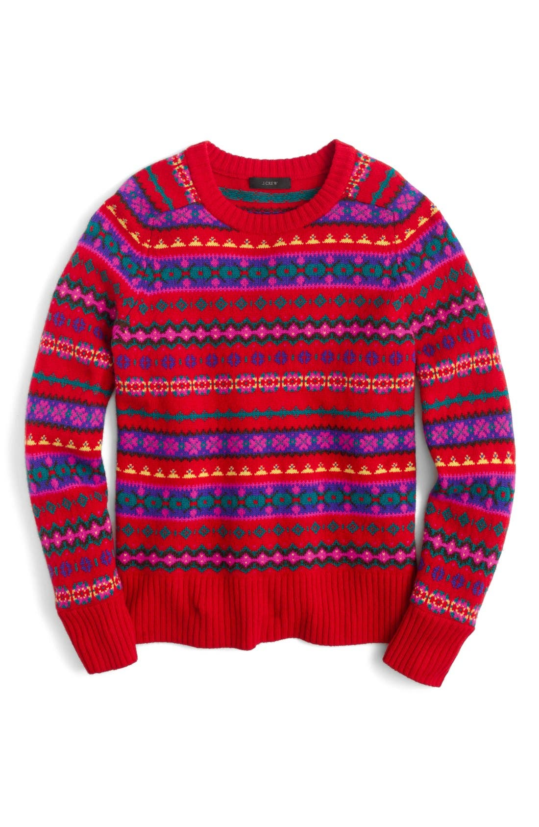J.Crew Holly Fair Isle Sweater | Nordstrom