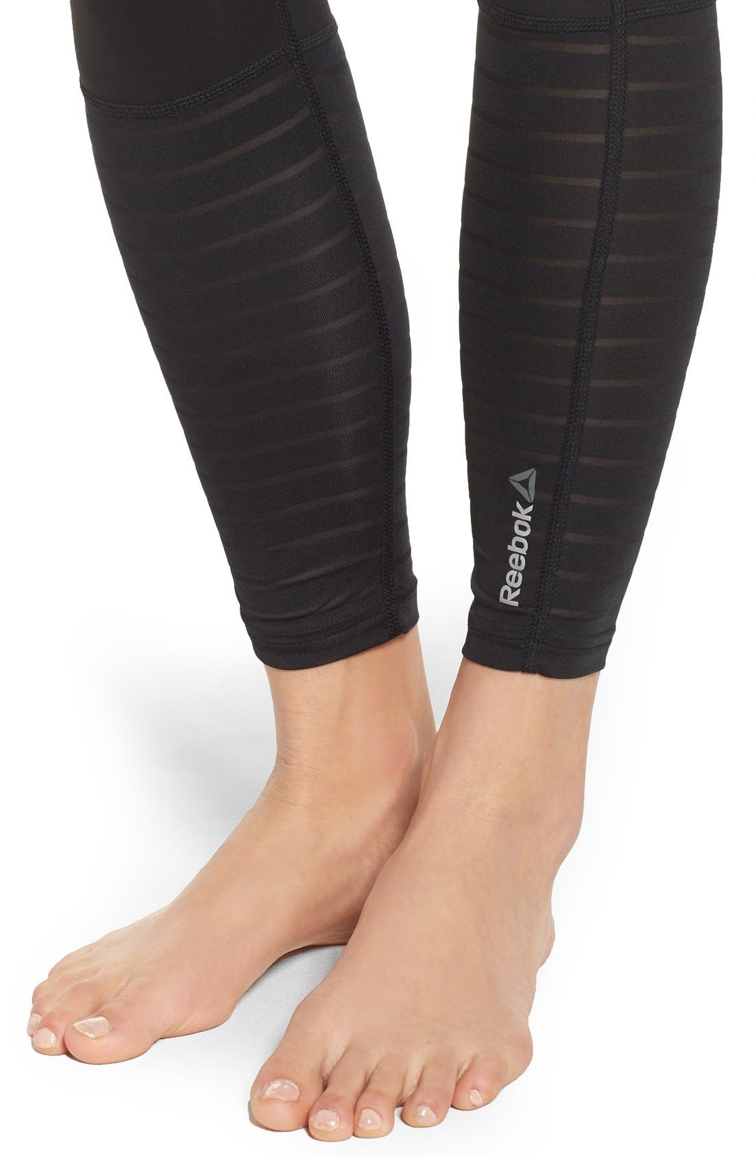 Alternate Image 4  - Reebok Dance Mesh Leggings