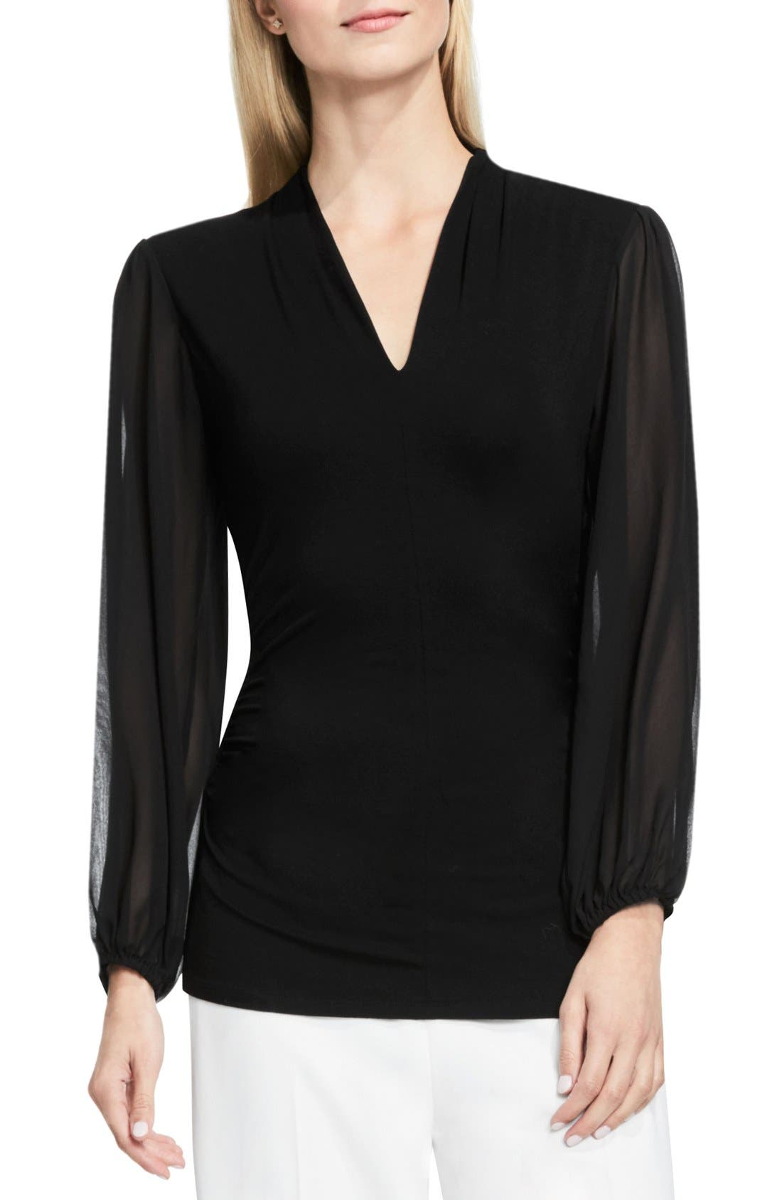 Alternate Image 1 Selected - Vince Camuto Chiffon Sleeve V-Neck Top