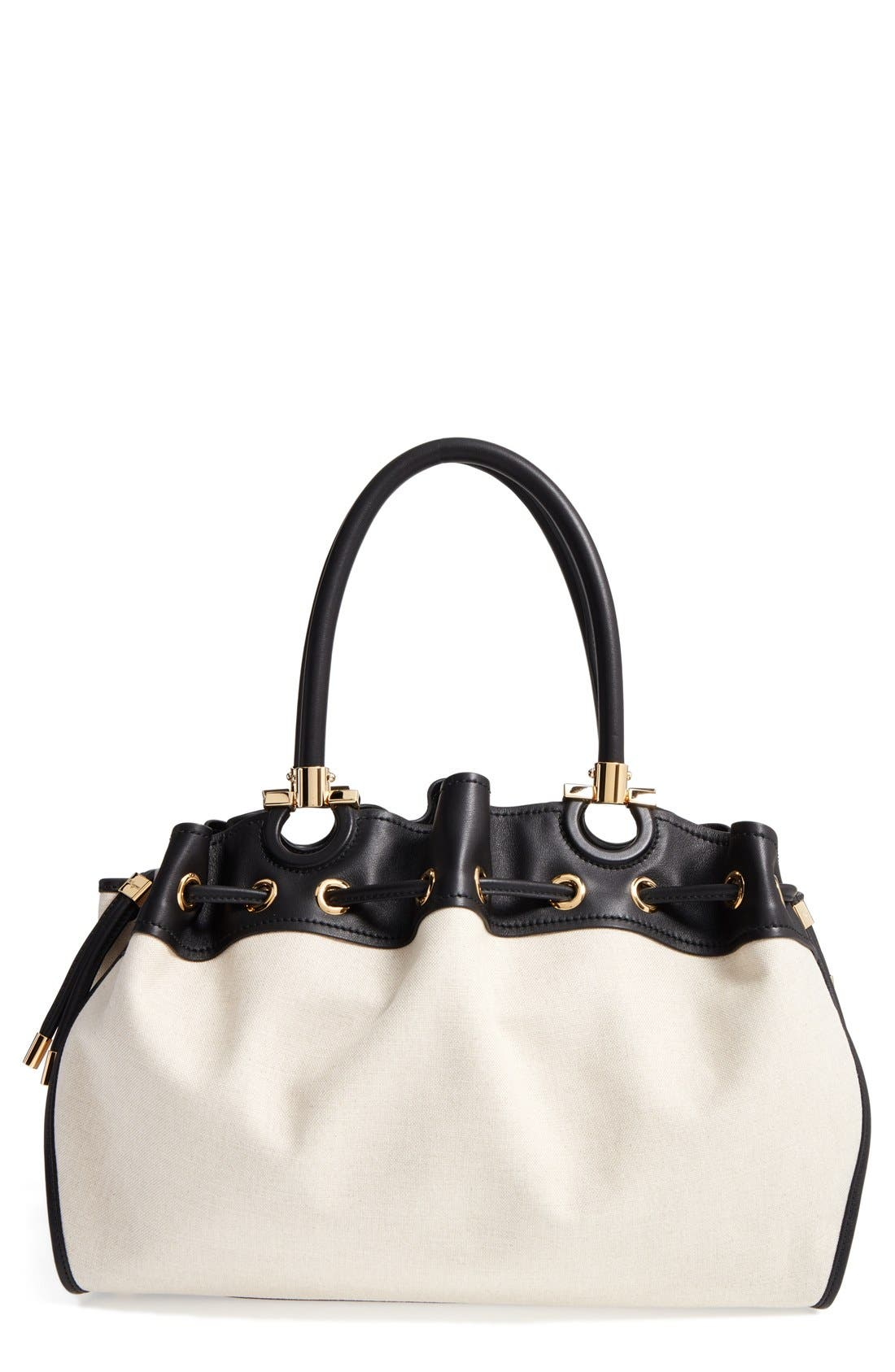 Alternate Image 1 Selected - Salvatore Ferragamo Sonia - Large Canvas Tote