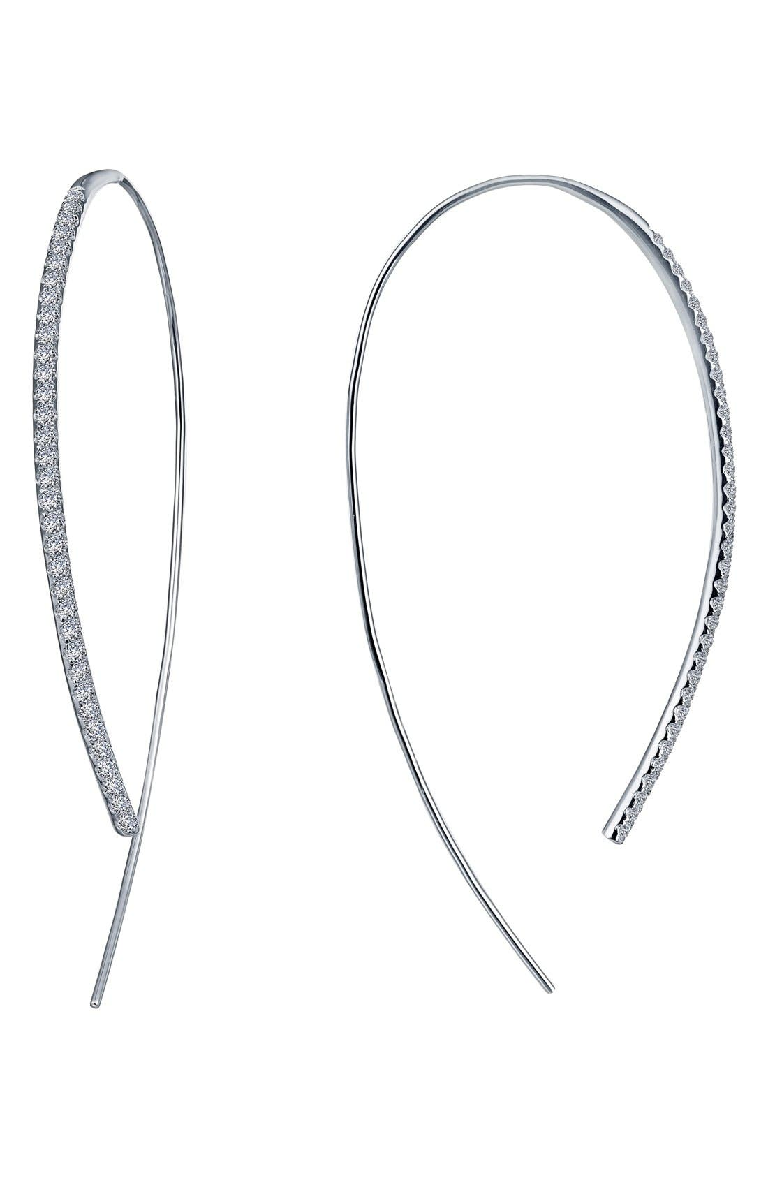 LAFONN Open Hoop Threader Earrings