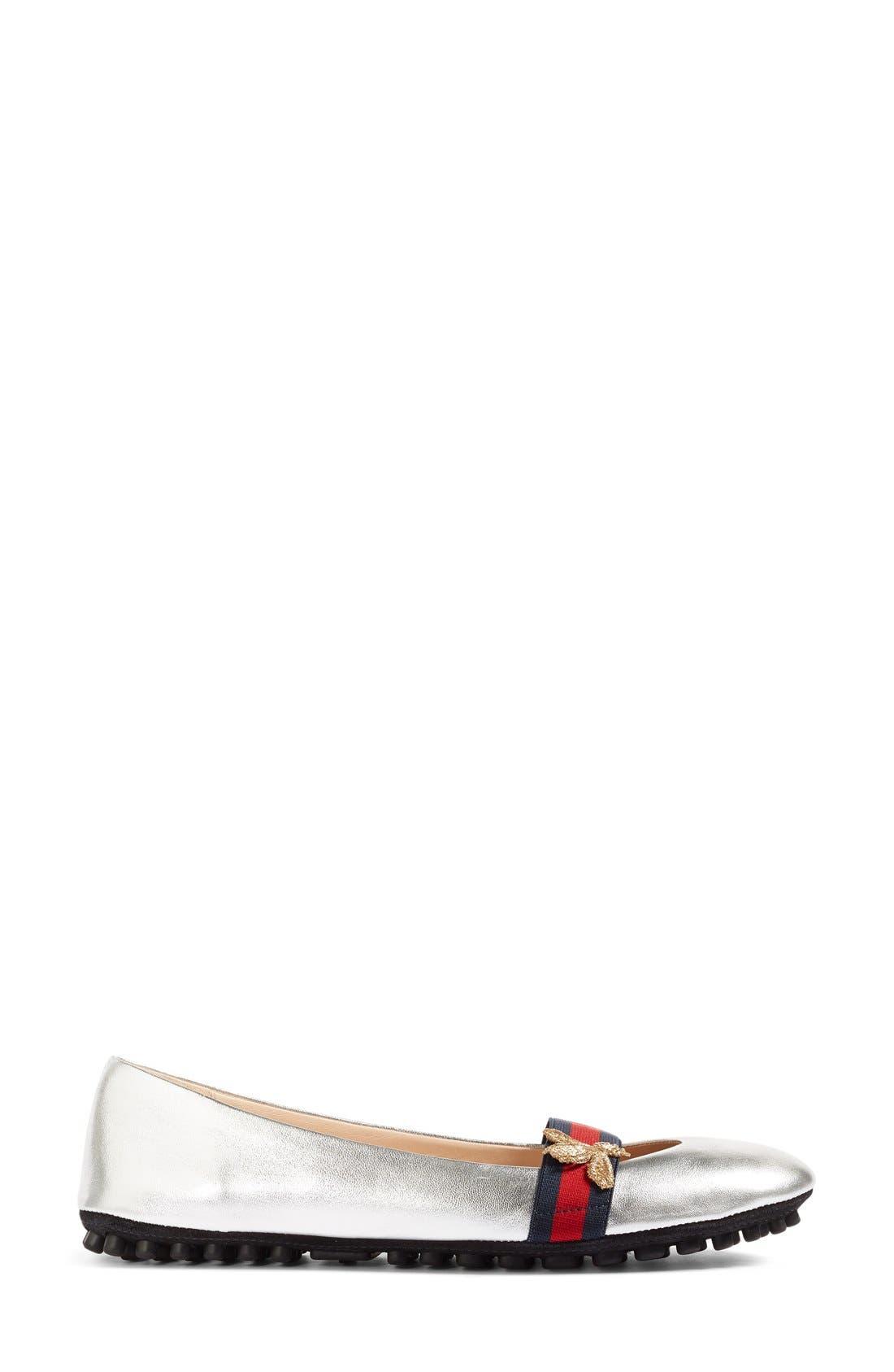 Alternate Image 4  - Gucci 'Bayadere' Ballerina Flat (Women)