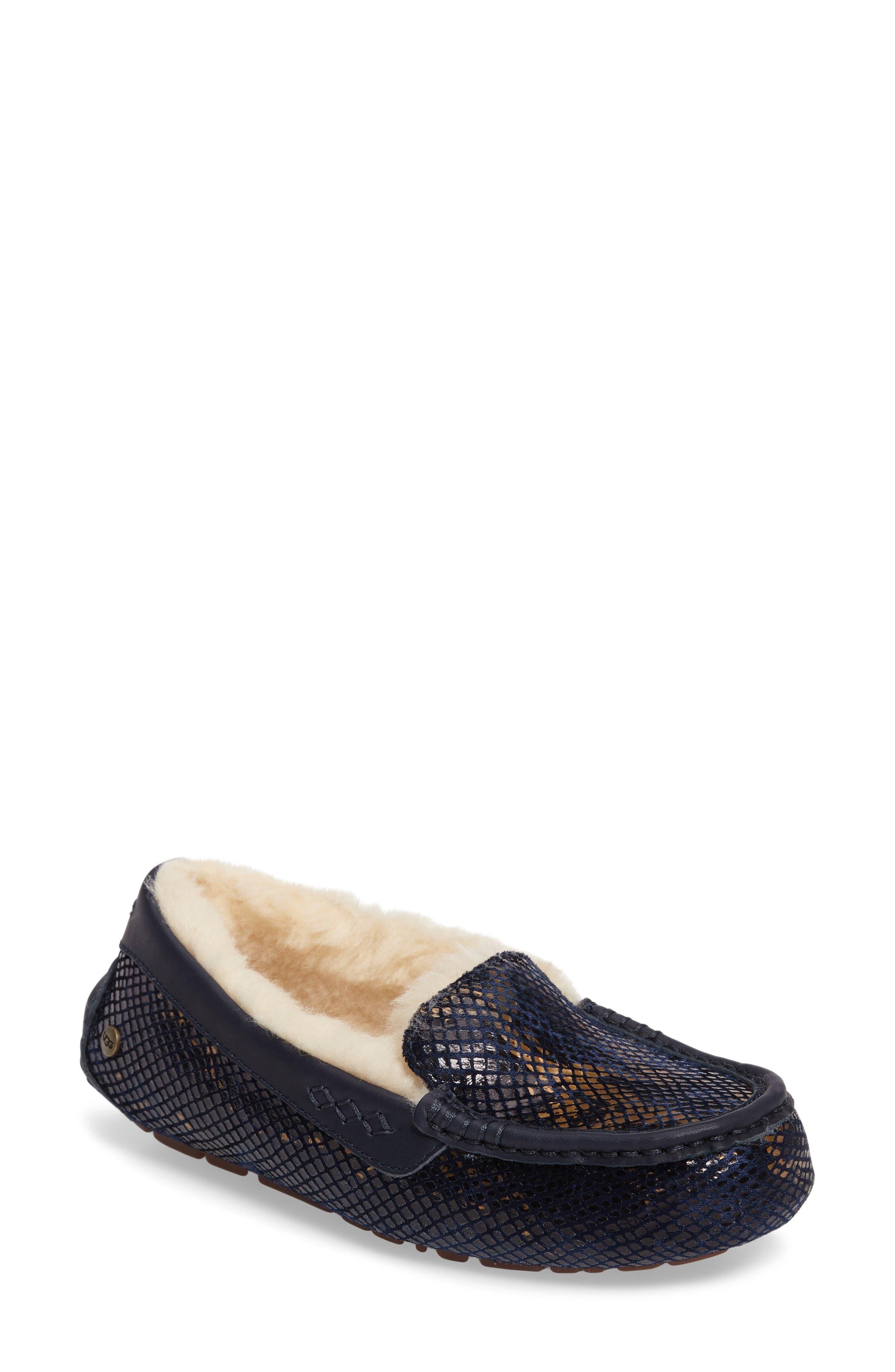 Main Image - UGG® Ansley Exotic Velvet Indoor/Outdoor Slipper (Women)