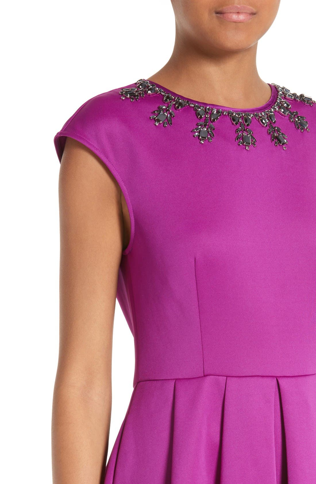 Alternate Image 4  - Ted Baker London J'adore Embellished Fit & Flare Dress
