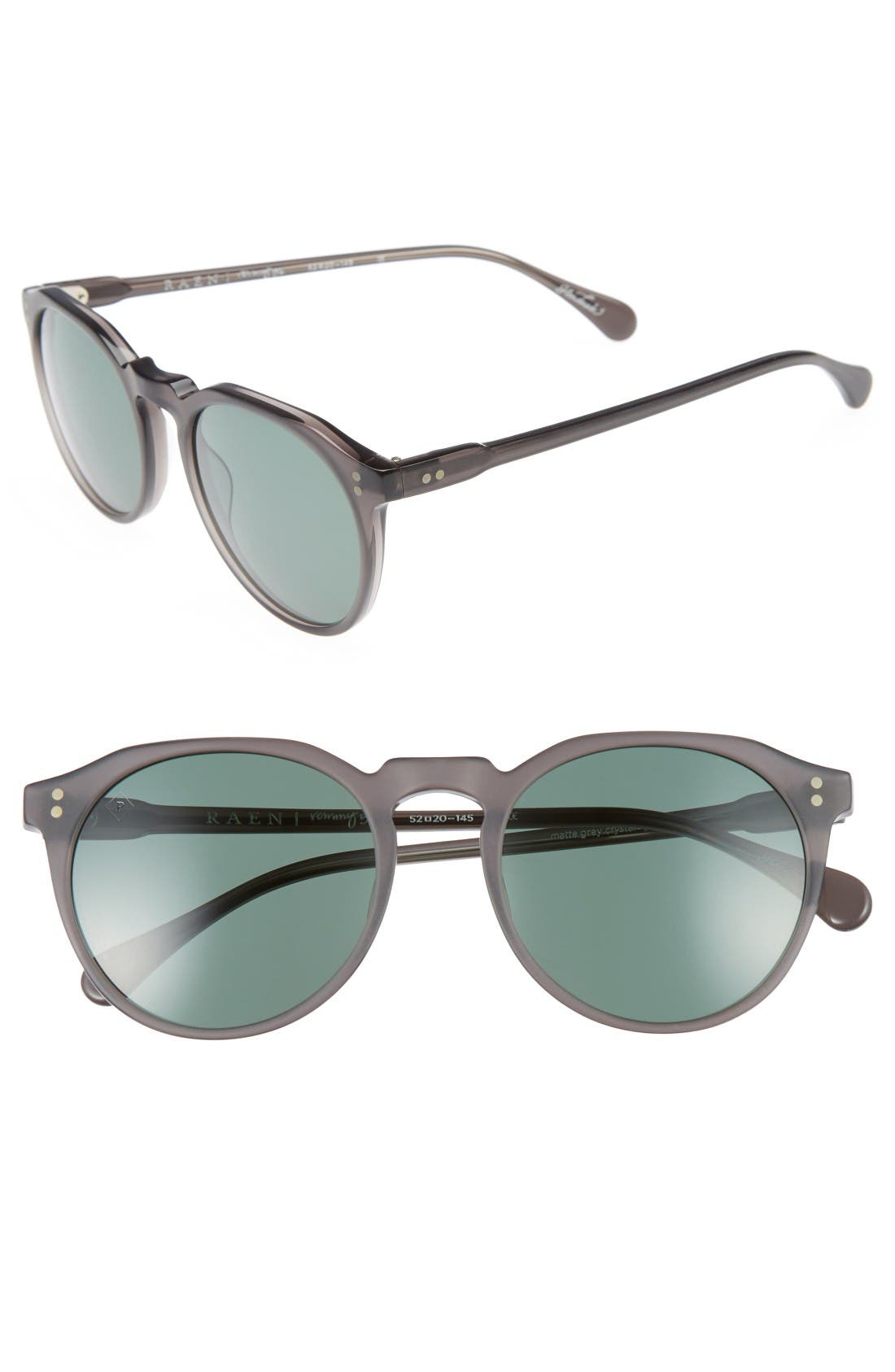 'Remmy' 52mm Polarized Sunglasses,                         Main,                         color, Matte Grey Crystal