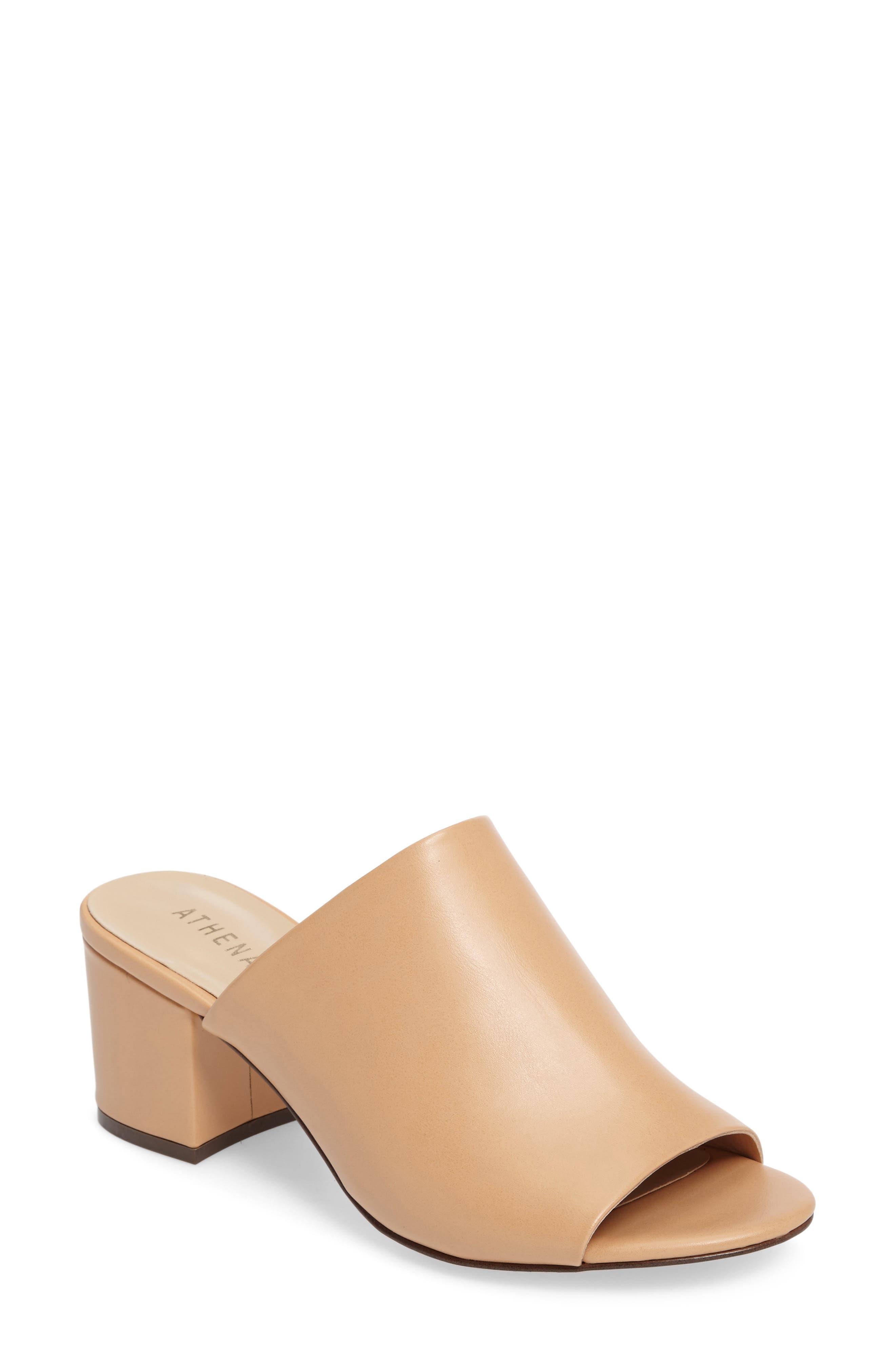 Robyne Slide Sandal,                         Main,                         color, Nude Faux Suede