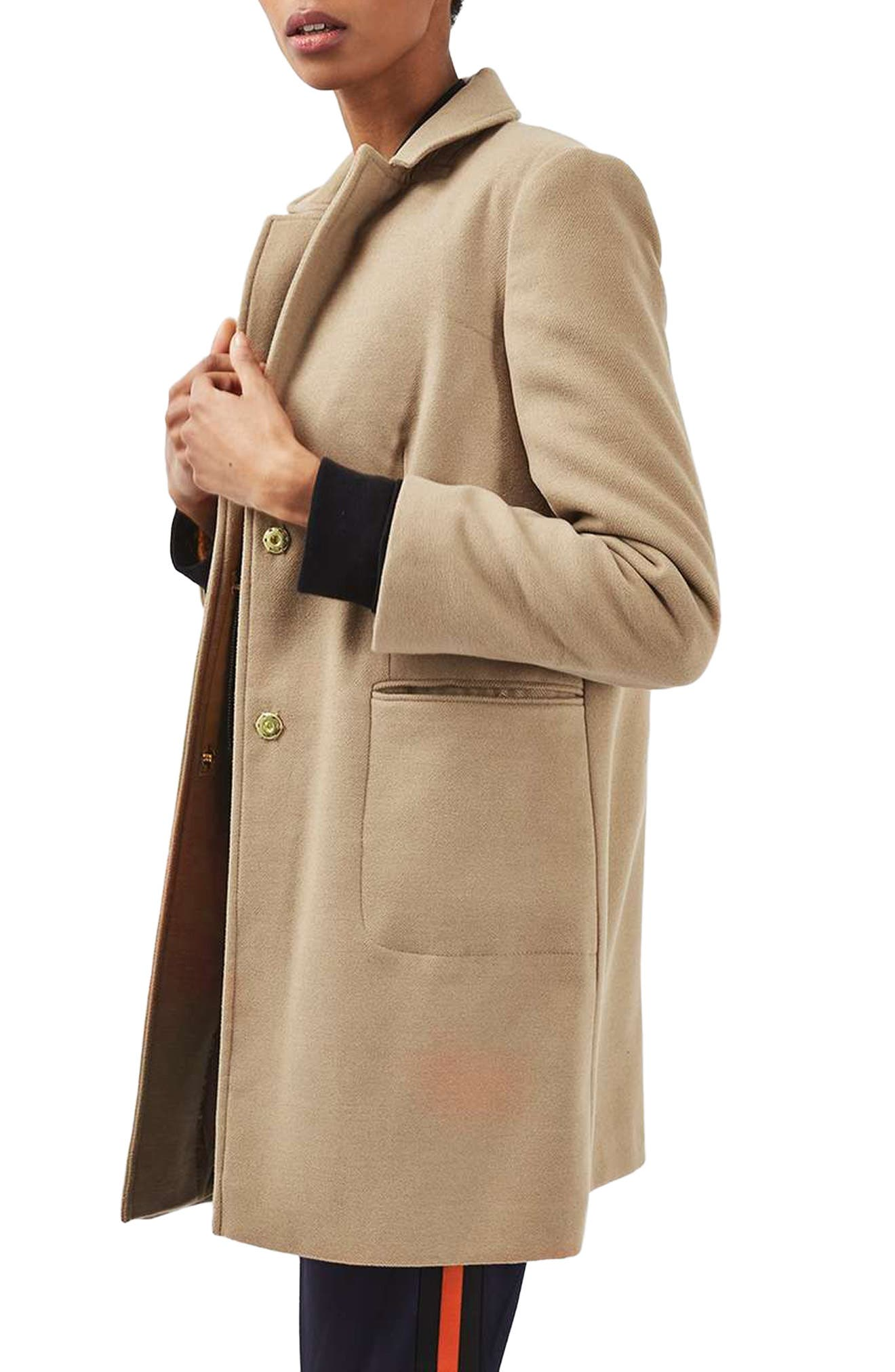 Main Image - Topshop Meg Boyfriend Coat (Regular & Petite)