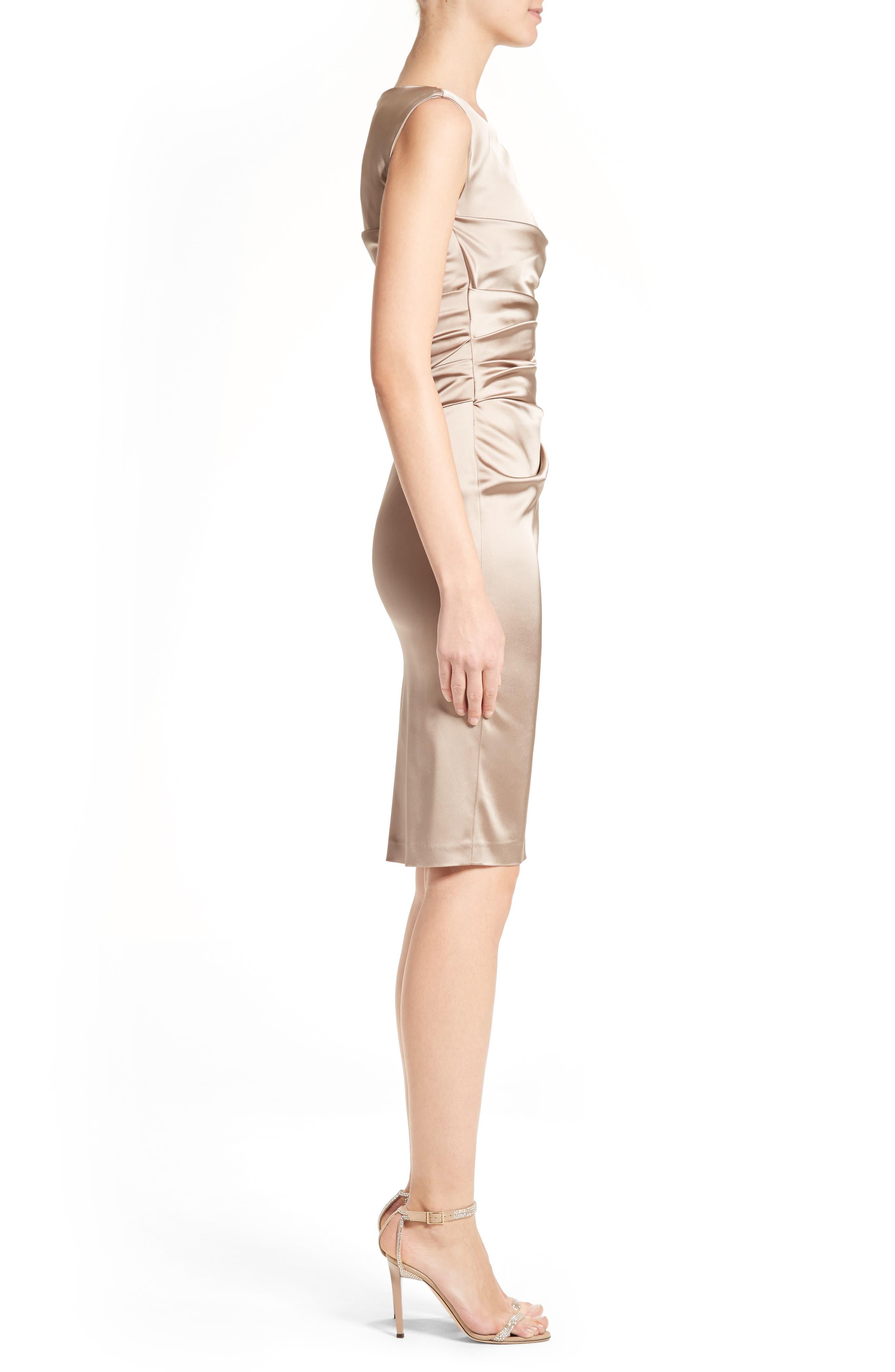 Alternate Image 3  - Talbot Runhof Stretch Satin Sheath Dress