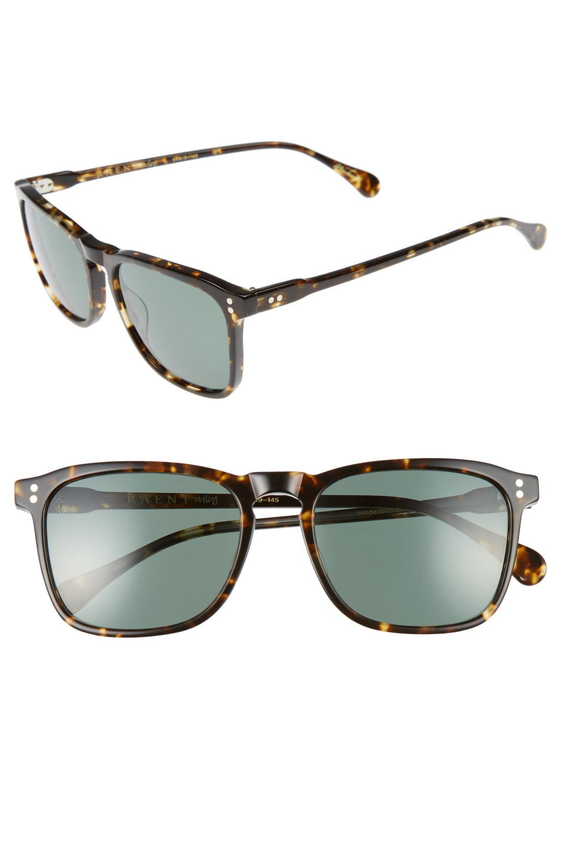 Wiley 54mm Sunglasses,                             Main thumbnail 1, color,                             Brindle Tortoise