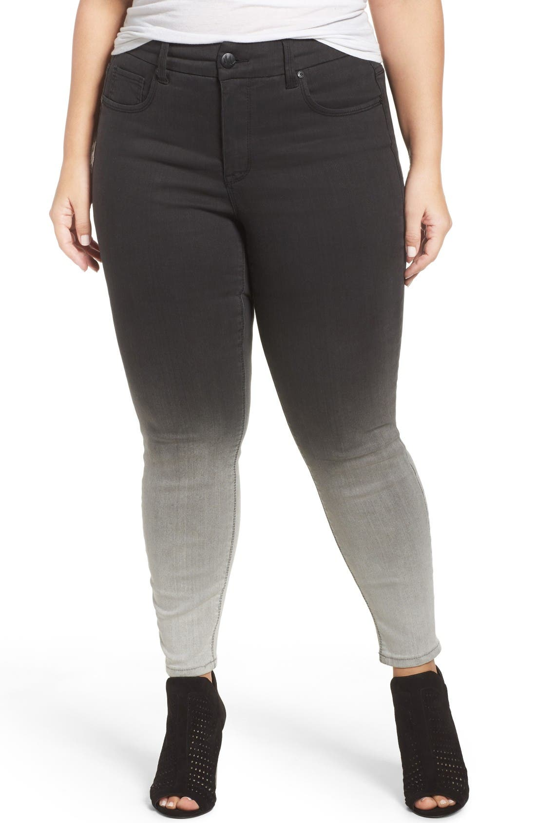 Alternate Image 1 Selected - Melissa McCarthy Seven7 Stretch Ombré Pencil Jeans (Dover) (Plus Size)