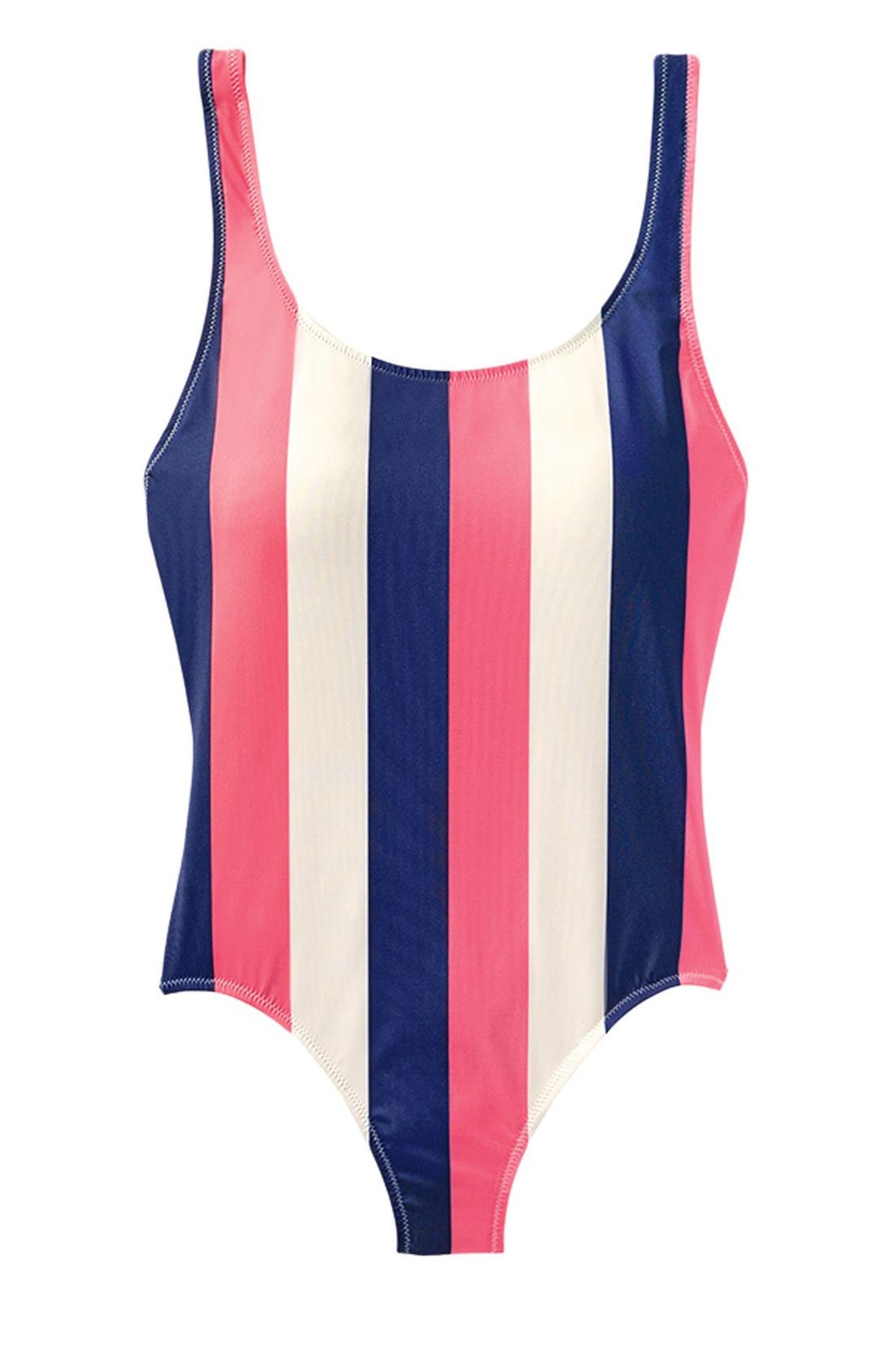 Alternate Image 2  - Solid & Striped Anne Marie One-Piece Swimsuit