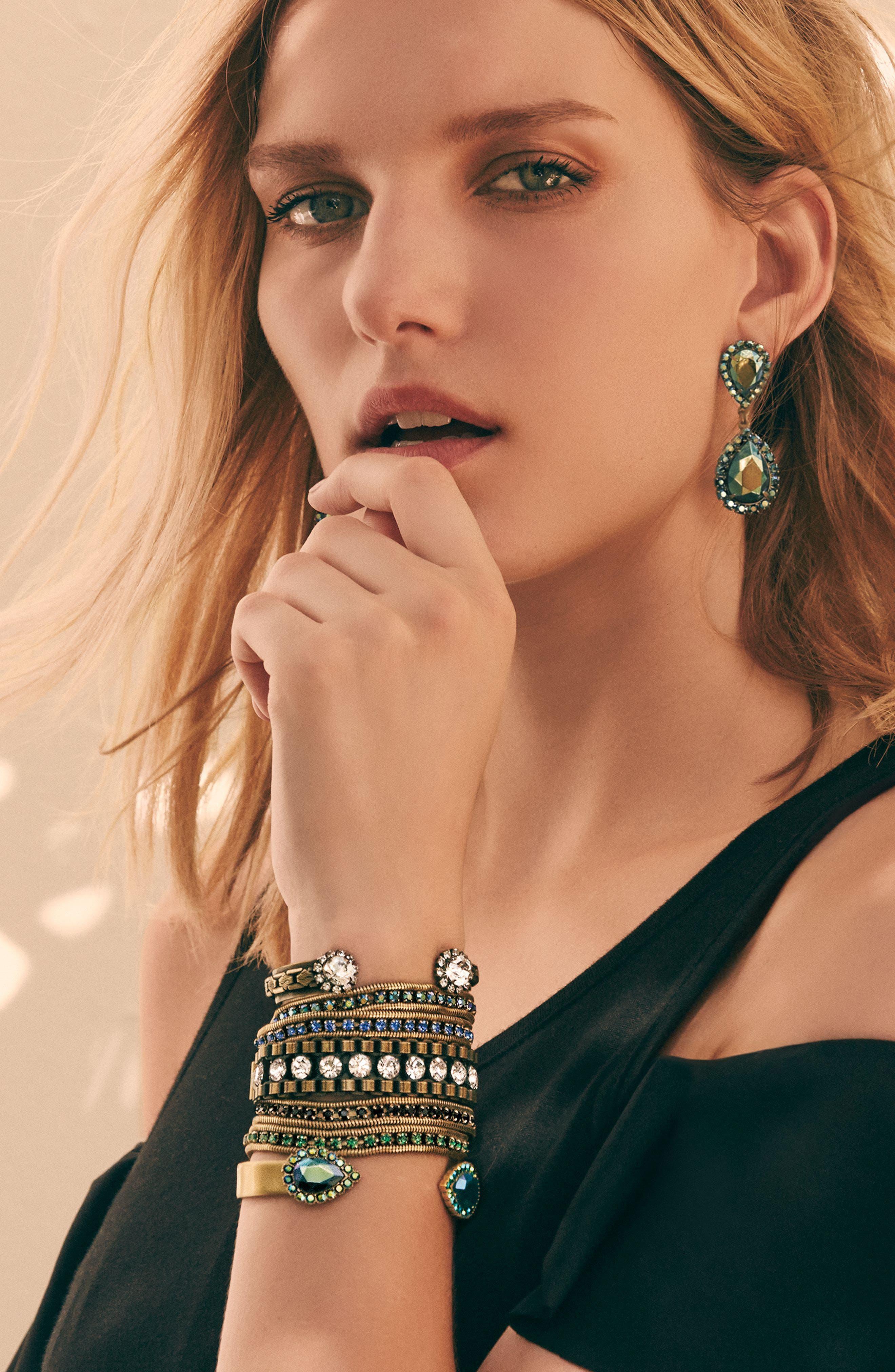 Alternate Image 3  - Loren Hope 'Carly' Crystal & Chain Bracelet