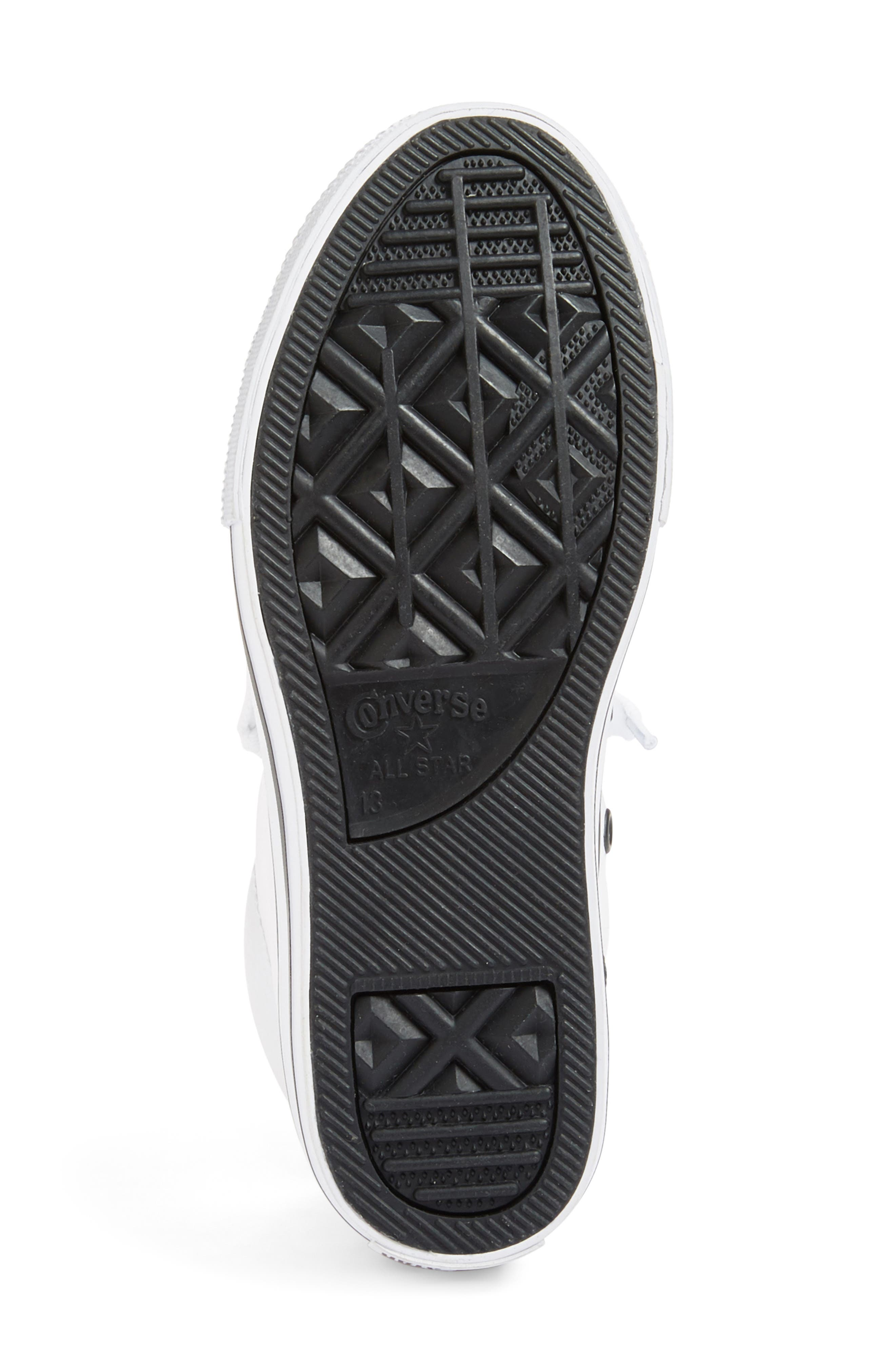 Chuck Taylor<sup>®</sup> All Star<sup>®</sup> Mid High Sneaker,                             Alternate thumbnail 4, color,                             White/ Black