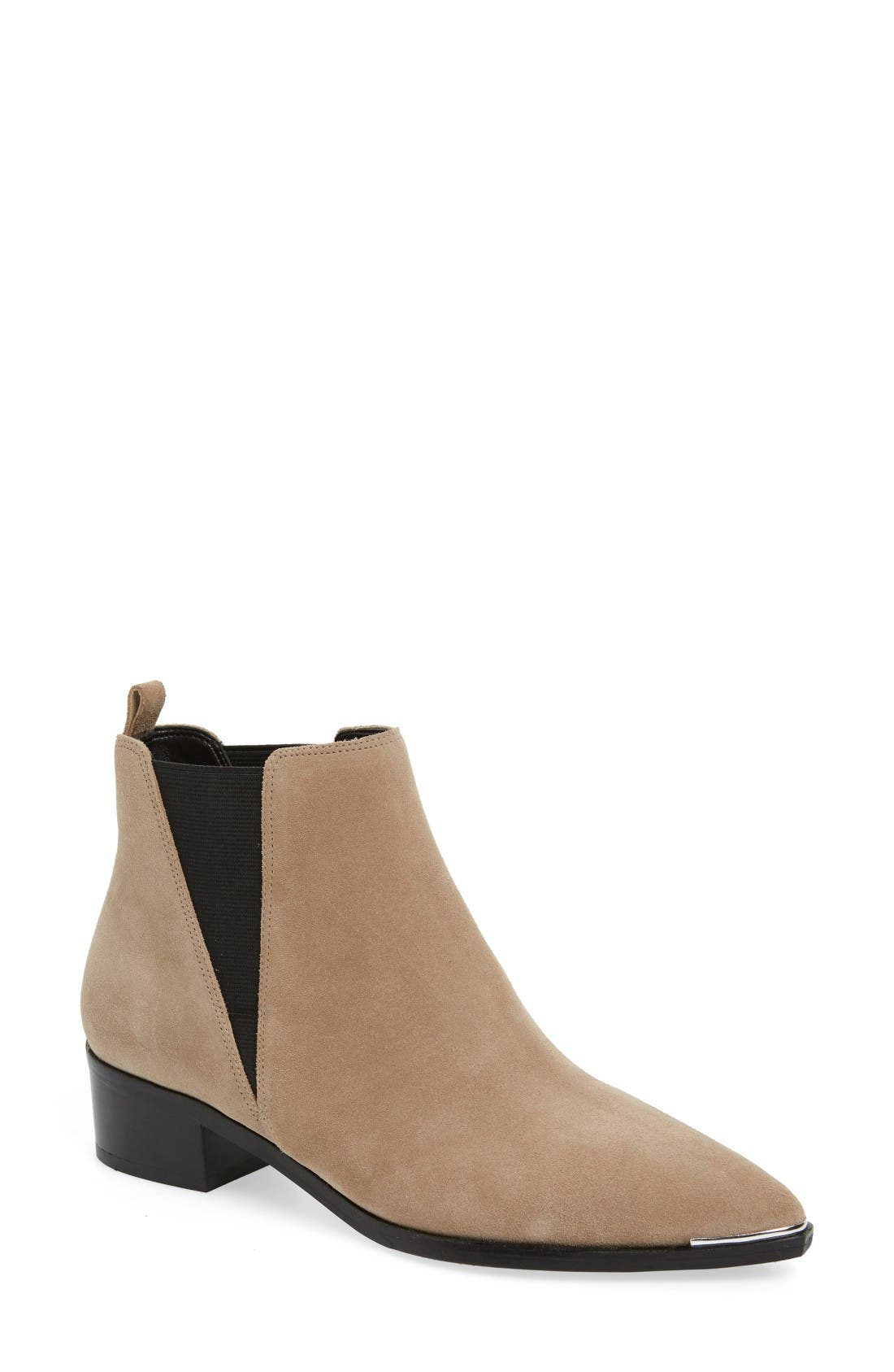 'Yale' Chelsea Boot,                             Main thumbnail 1, color,                             Medium Natural Suede