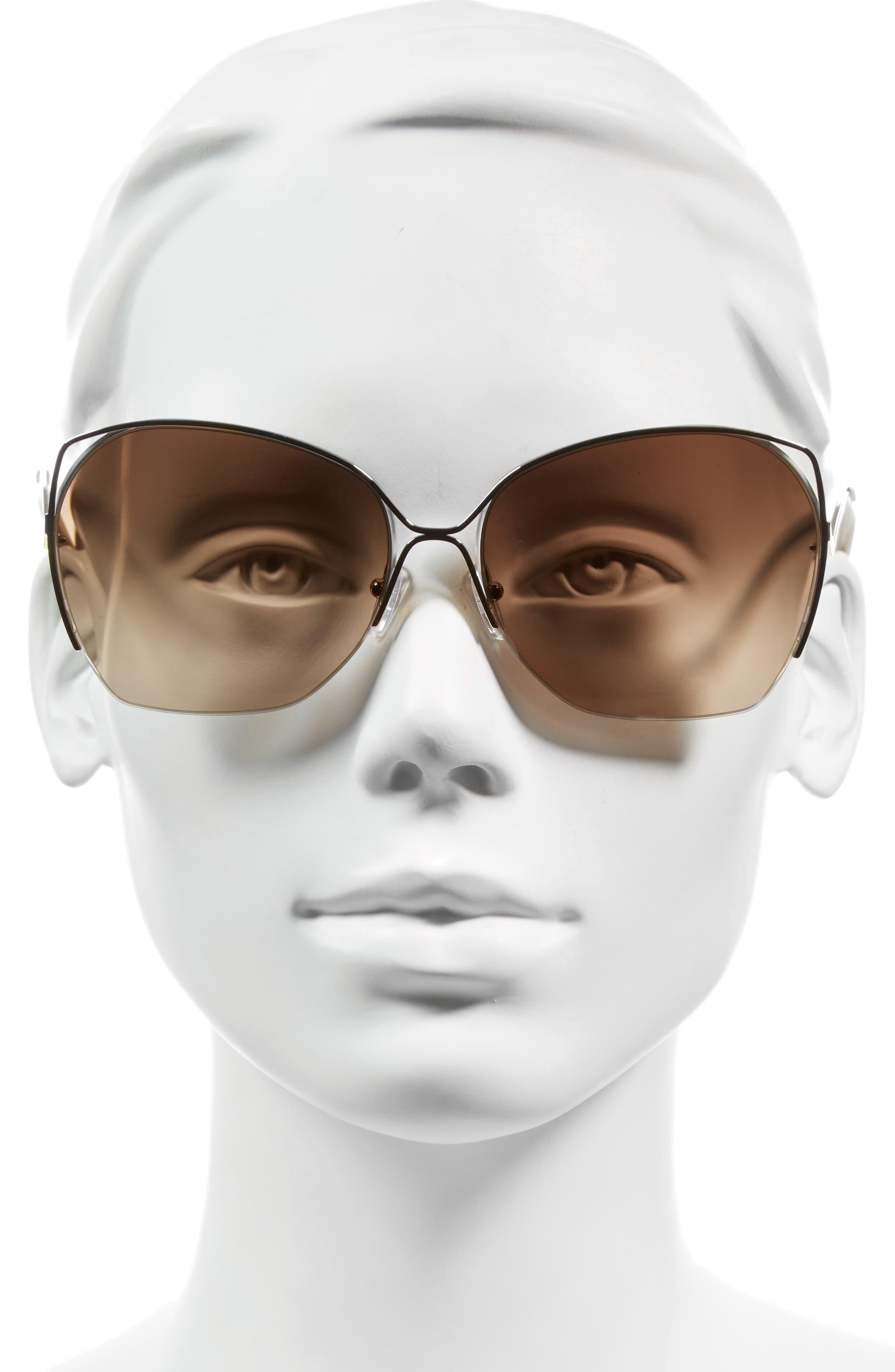 Alternate Image 2  - Victoria Beckham Fine Wave 61mm Sunglasses