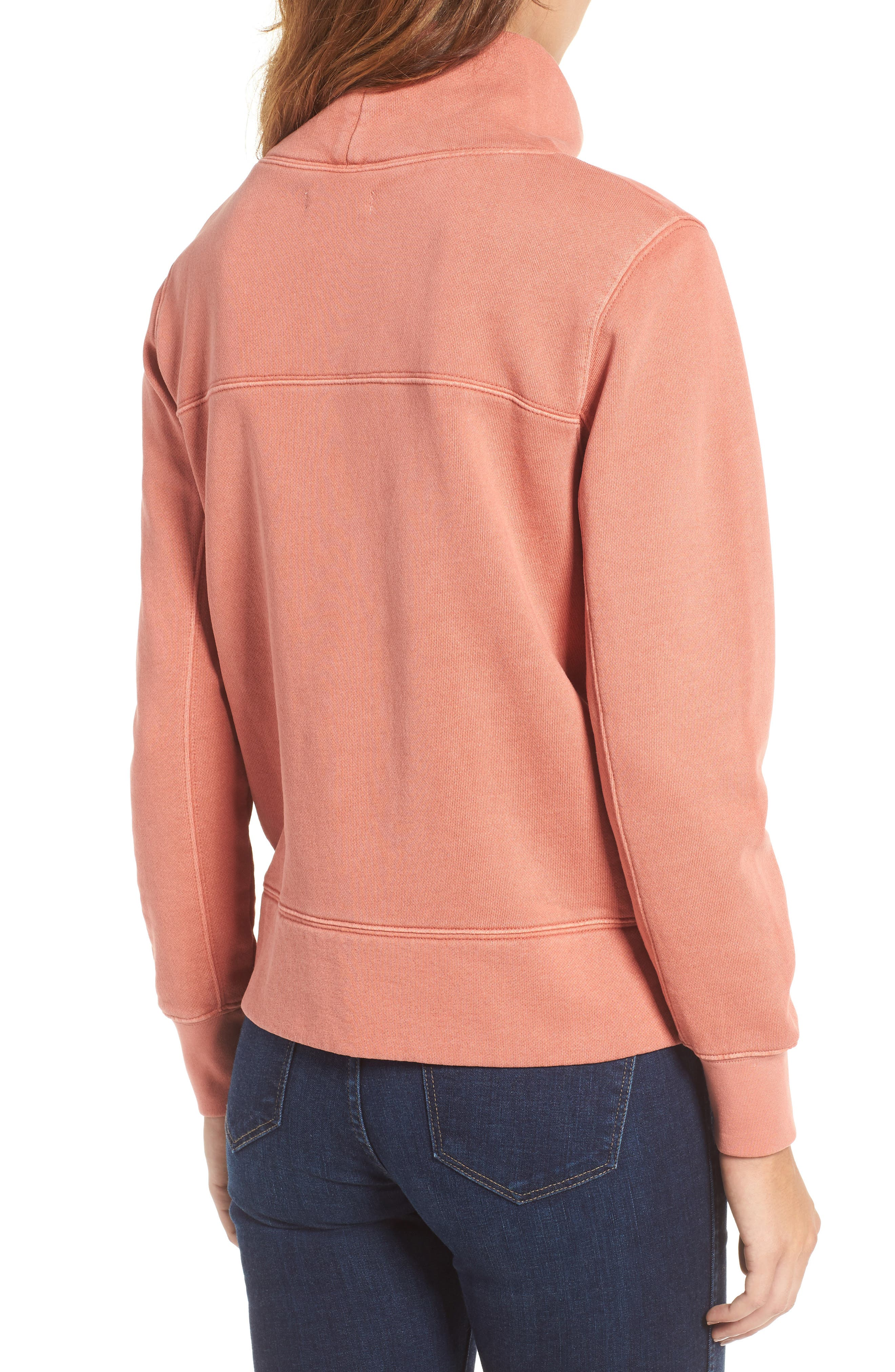 Garment Dyed Funnel Neck Sweatshirt,                             Alternate thumbnail 2, color,                             Rusted Tin