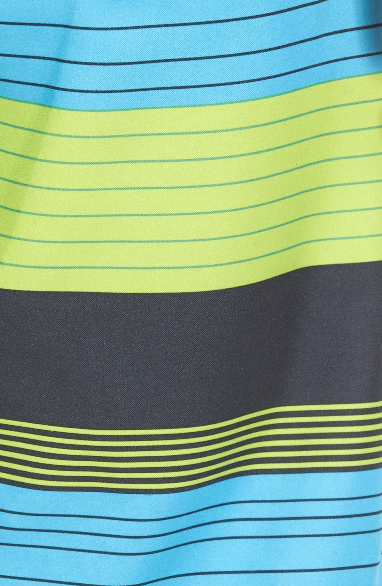 Santa Cruz Stripe Board Shorts,                             Alternate thumbnail 5, color,                             Lime