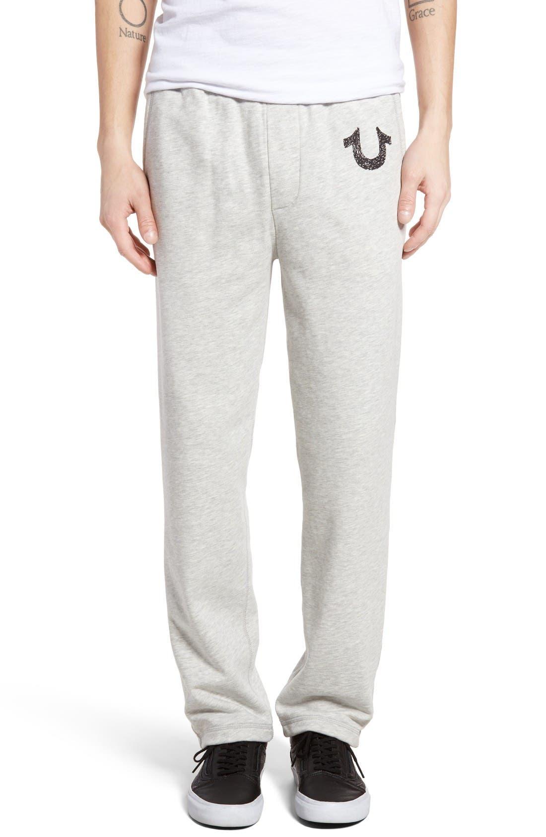 True Religion Brand Jeans Open Leg Sweatpants