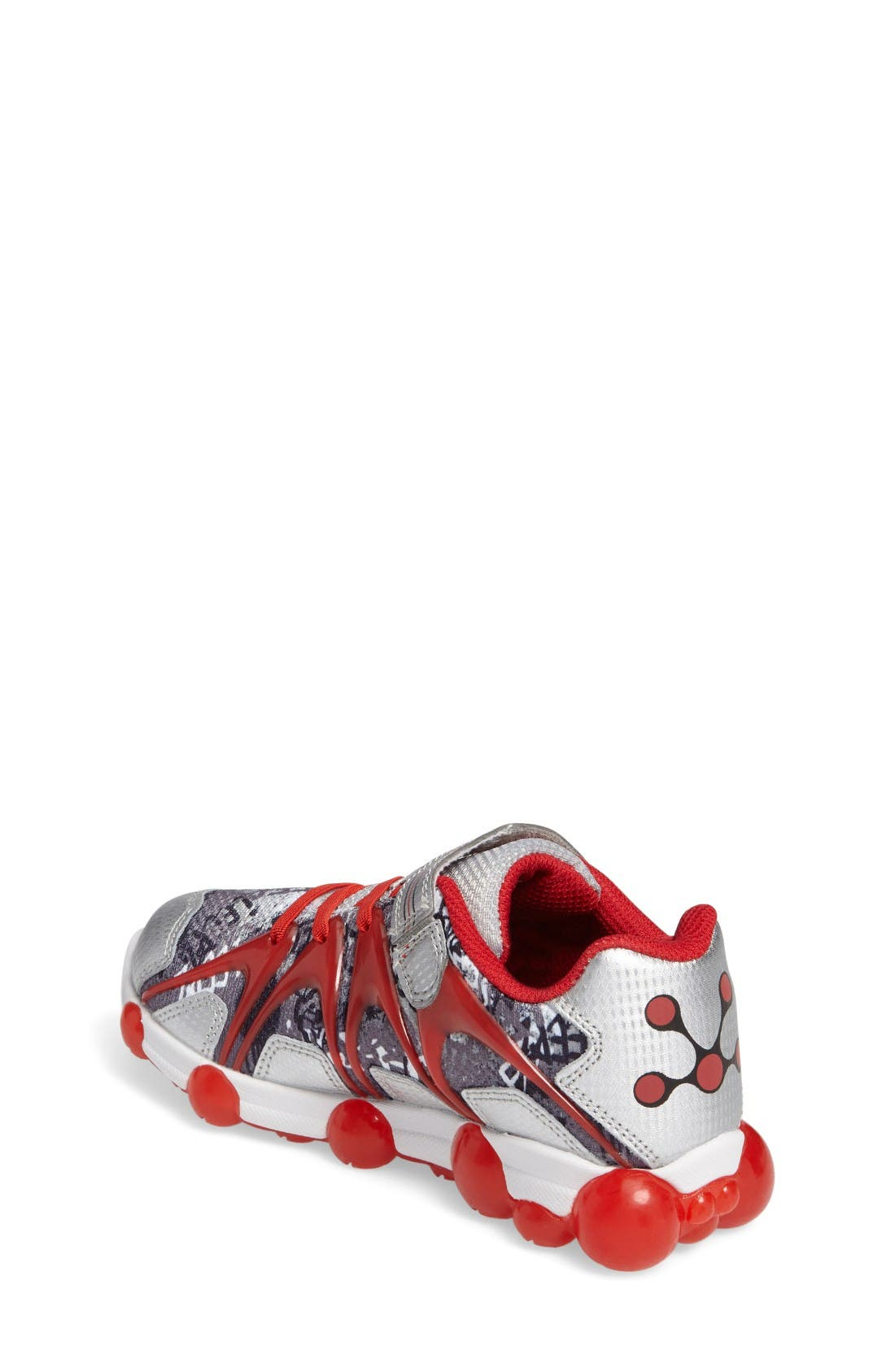 'Leepz' Light-Up Sneaker,                             Alternate thumbnail 2, color,                             Red/ Silver