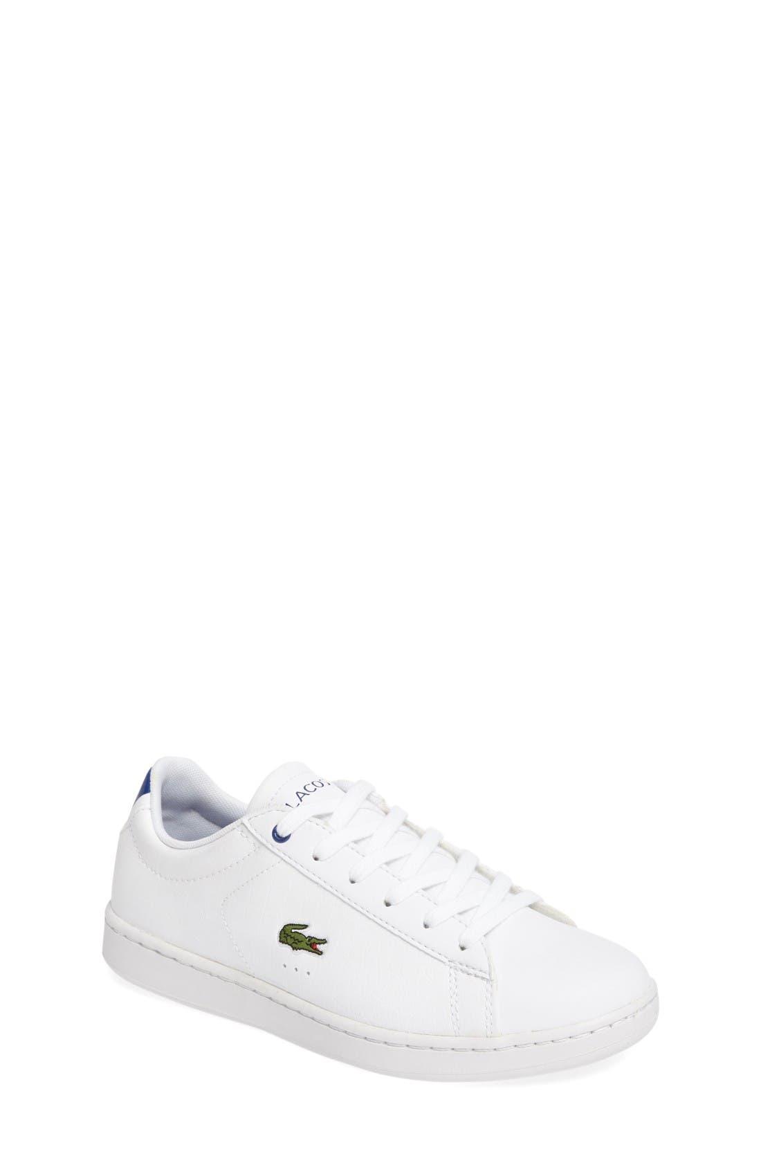 Carnaby EVO Sneaker,                             Main thumbnail 1, color,                             White/ Blue