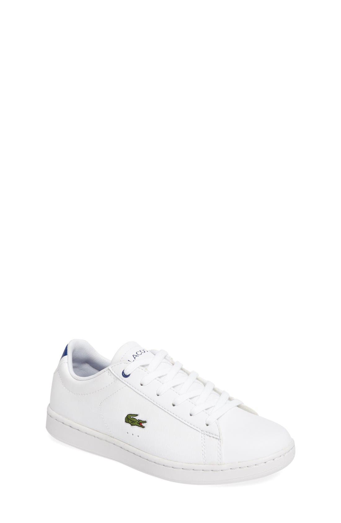 Carnaby EVO Sneaker,                         Main,                         color, White/ Blue