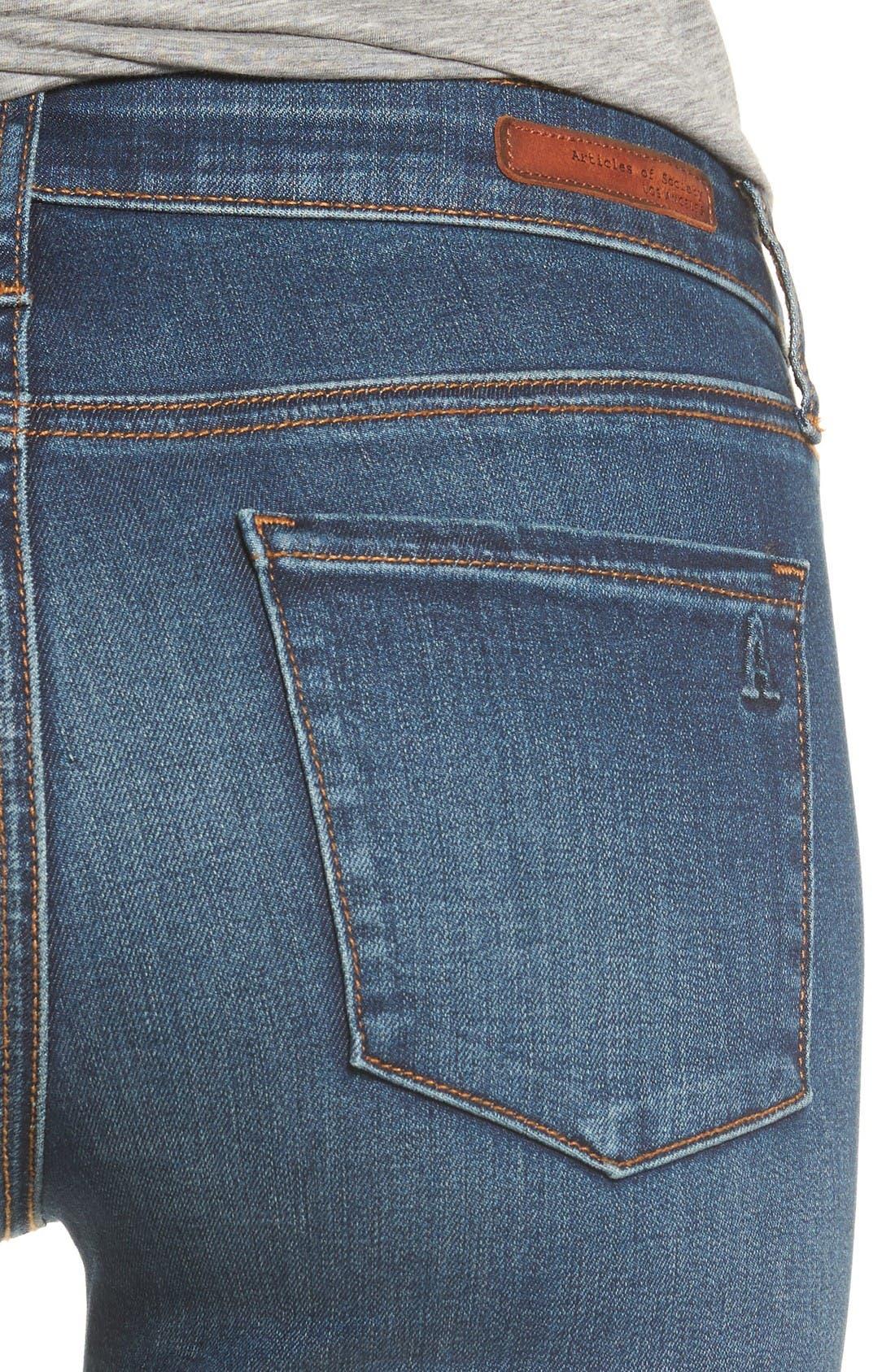Alternate Image 4  - Articles of Society Mya Skinny Jeans (Alpha)