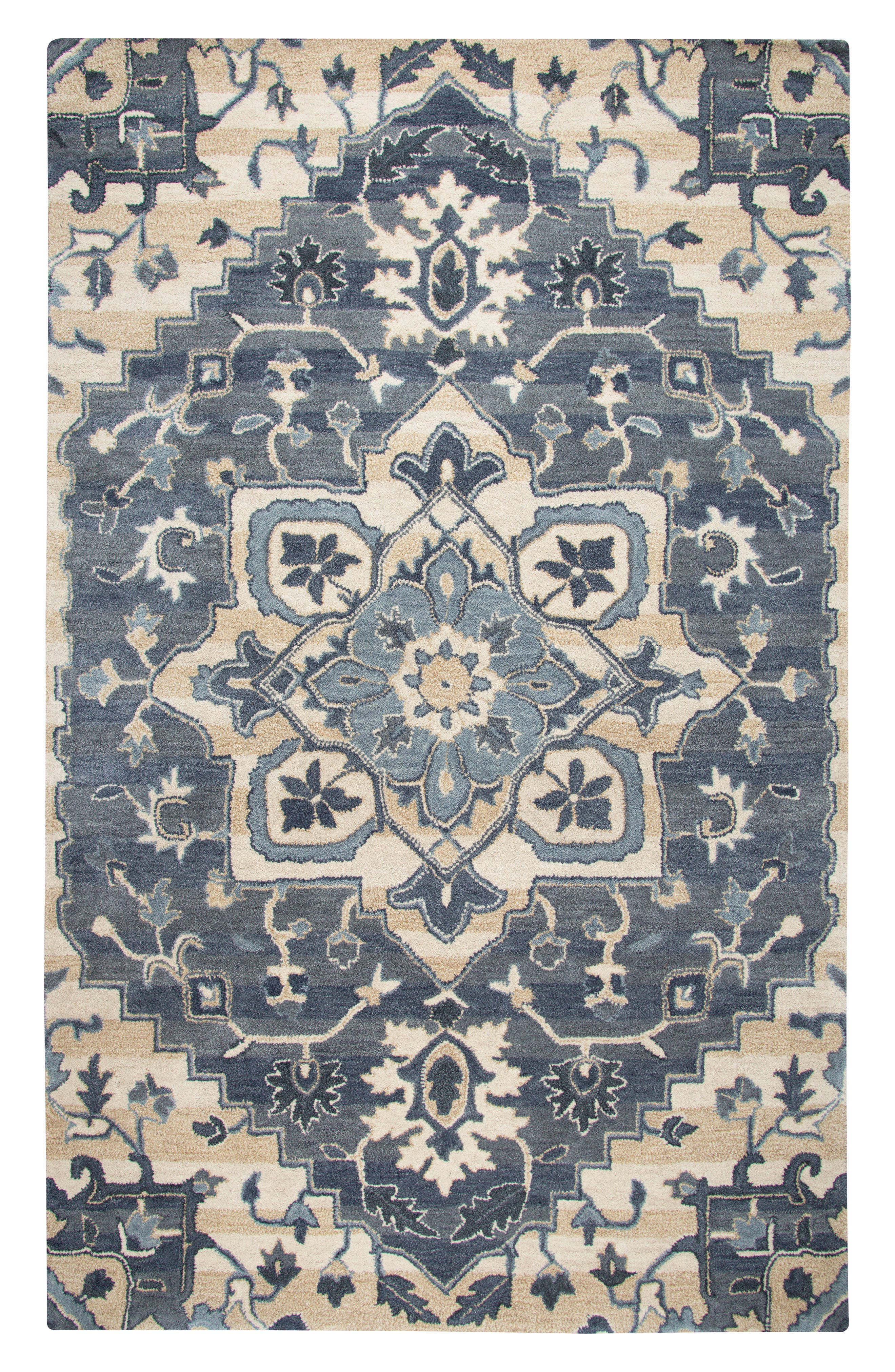 Veronica Hand Tufted Wool Rug,                         Main,                         color, Blue