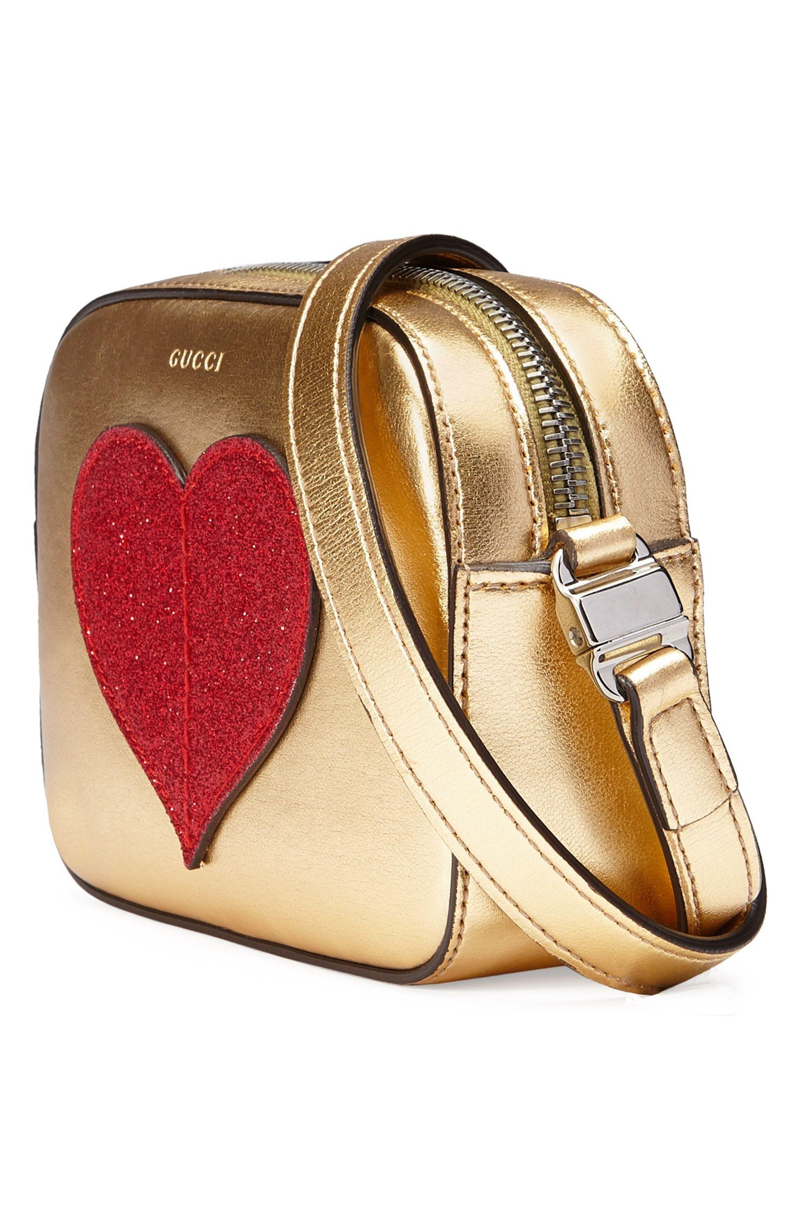 Alternate Image 4  - Gucci Leather Messenger Bag (Big Girls)