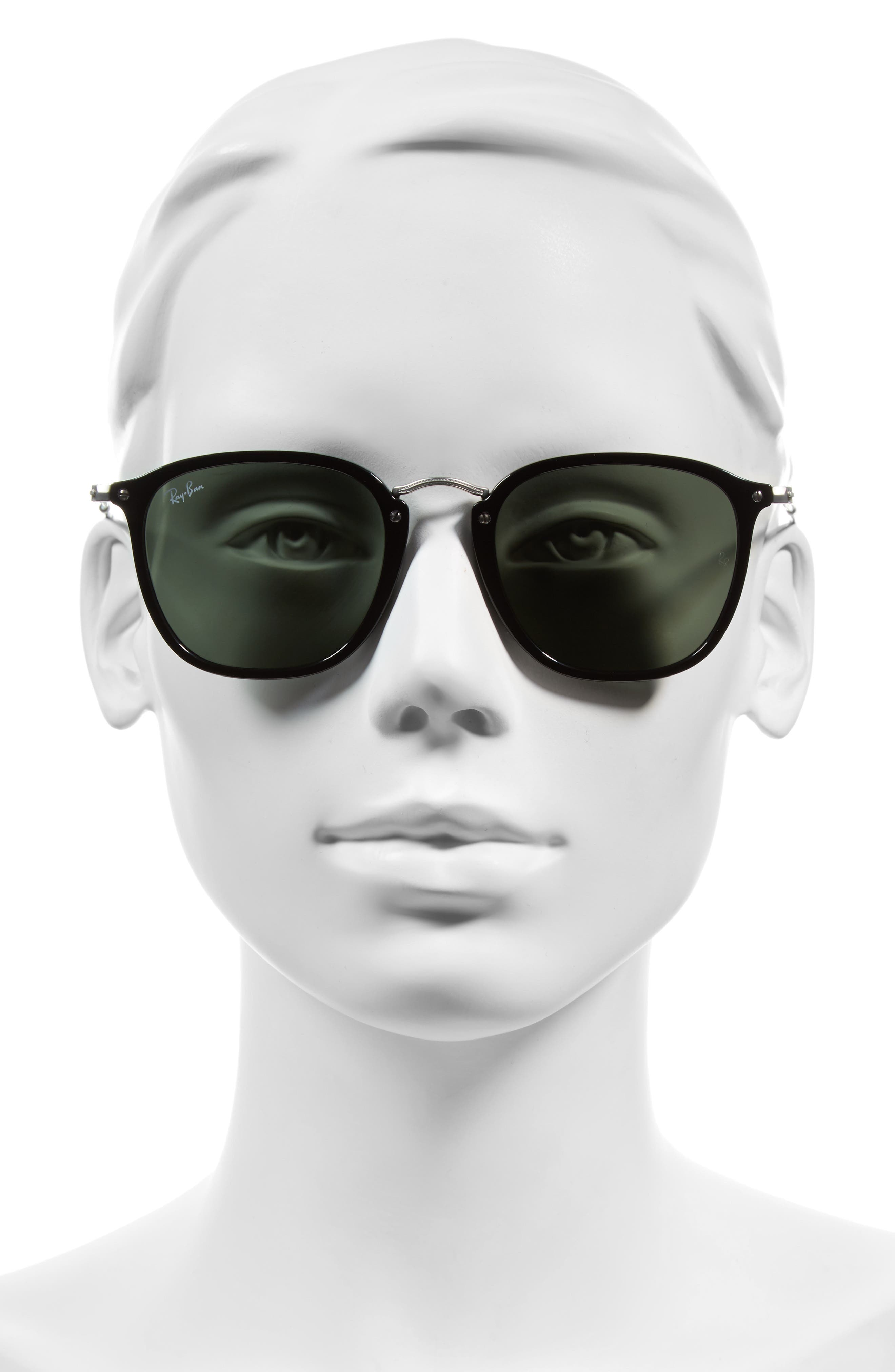 Icons 51mm Aviator Sunglasses,                             Alternate thumbnail 2, color,                             Black