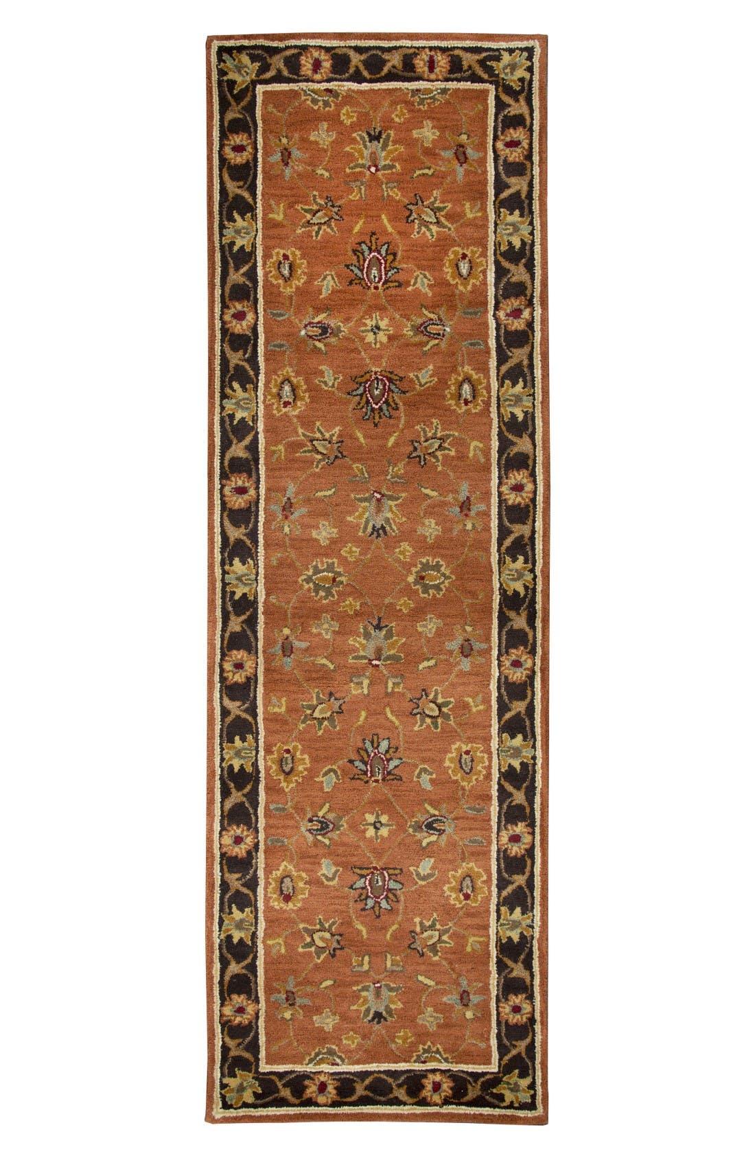 Amalia Hand Tufted Wool Area Rug,                             Alternate thumbnail 3, color,                             Rust/ Multi