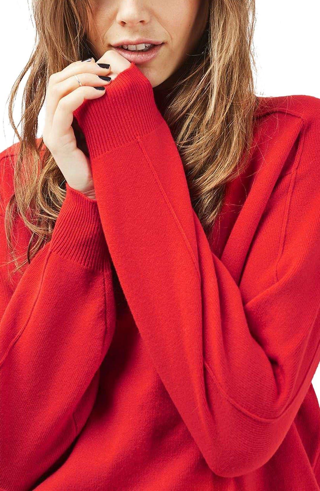 Alternate Image 6  - Topshop Mock Neck Sweater