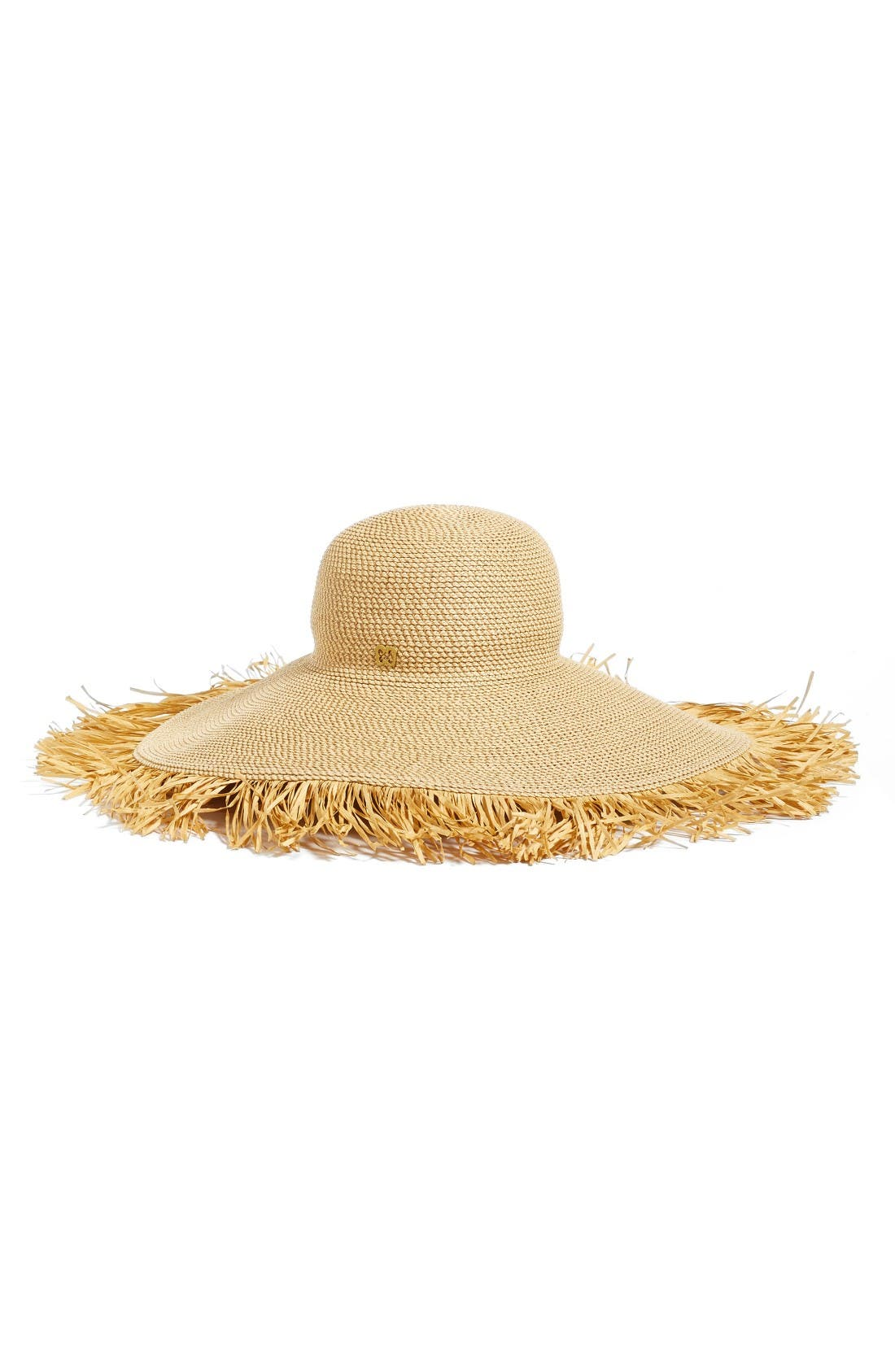 Fringed Squishee<sup>®</sup> Packable Floppy Hat,                             Alternate thumbnail 2, color,                             Peanut
