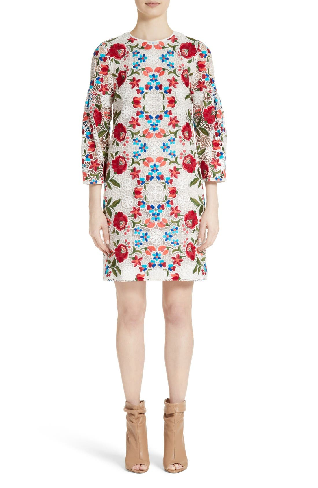 Alternate Image 1 Selected - Burberry Carrie Embroidered Lace Dress
