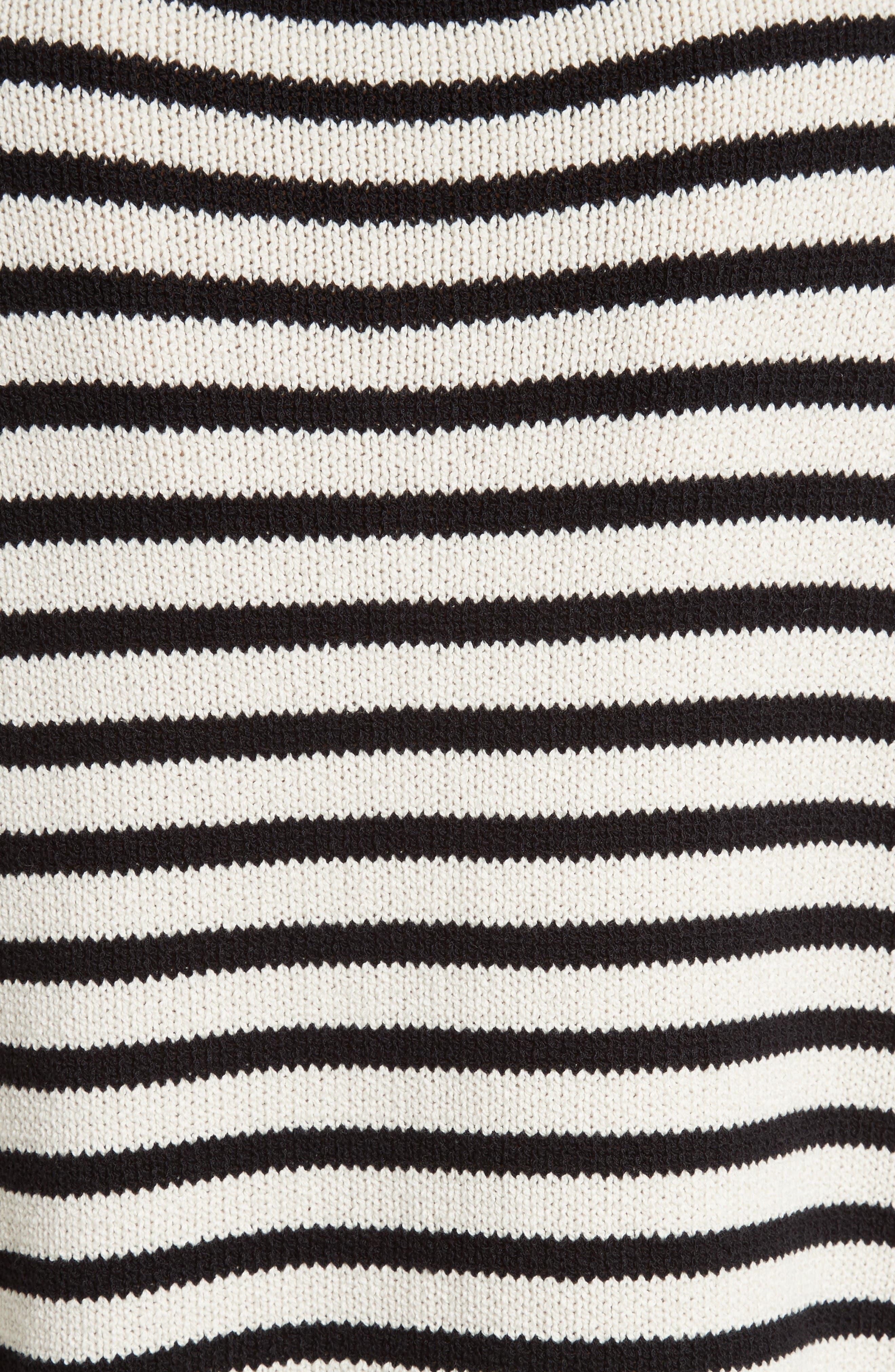 Alternate Image 5  - Vince Stripe Cotton Blend Pullover