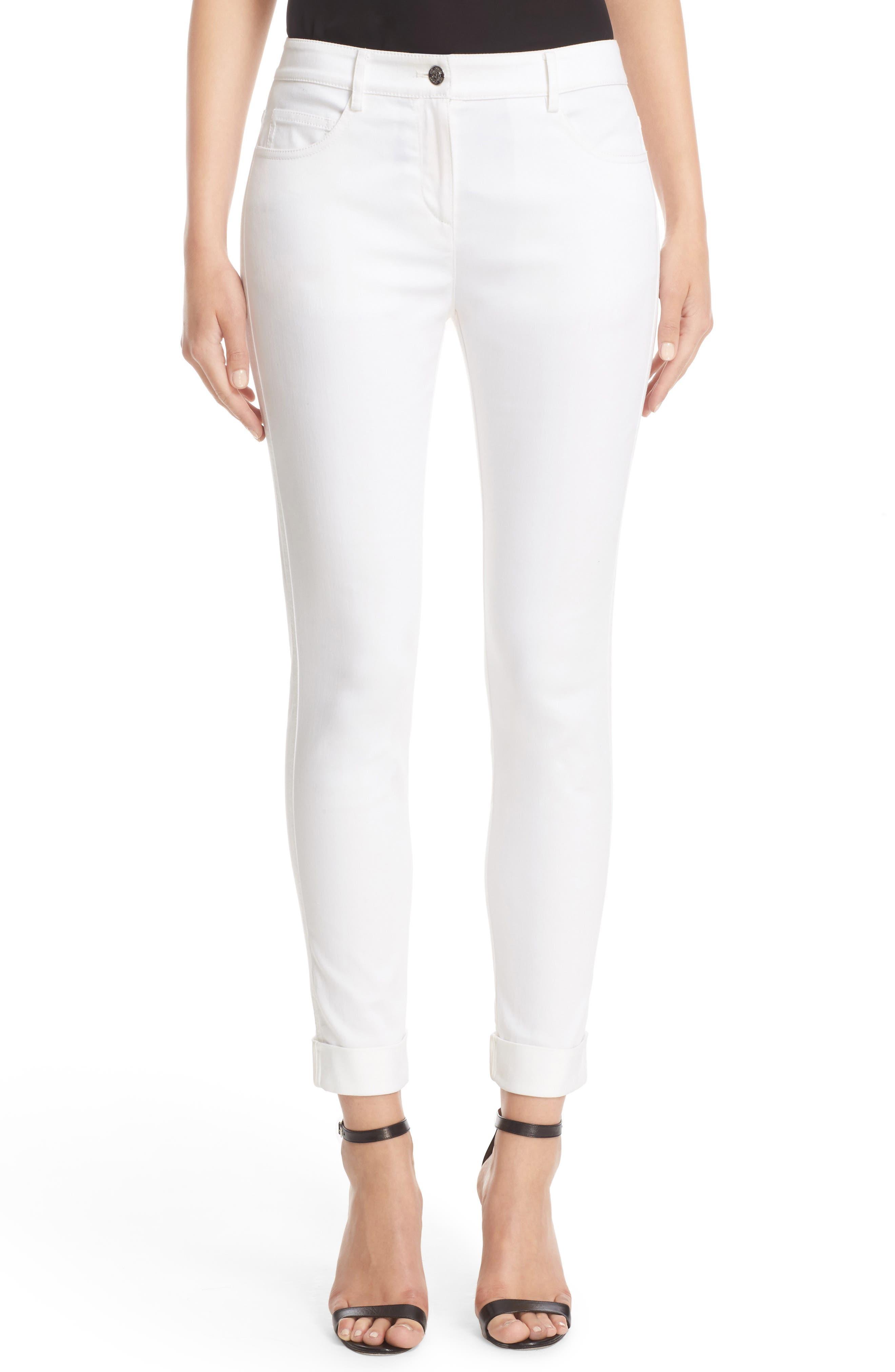 Main Image - St. John Sport Collection Bardot Slim Capri Jeans