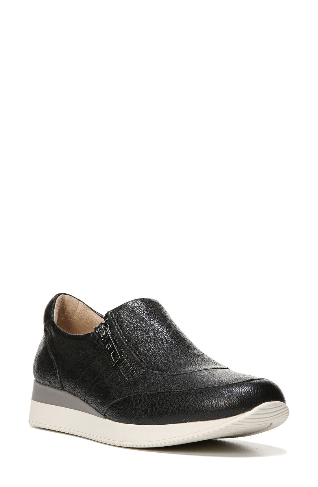 Jetty Sneaker,                             Main thumbnail 1, color,                             Black Leather