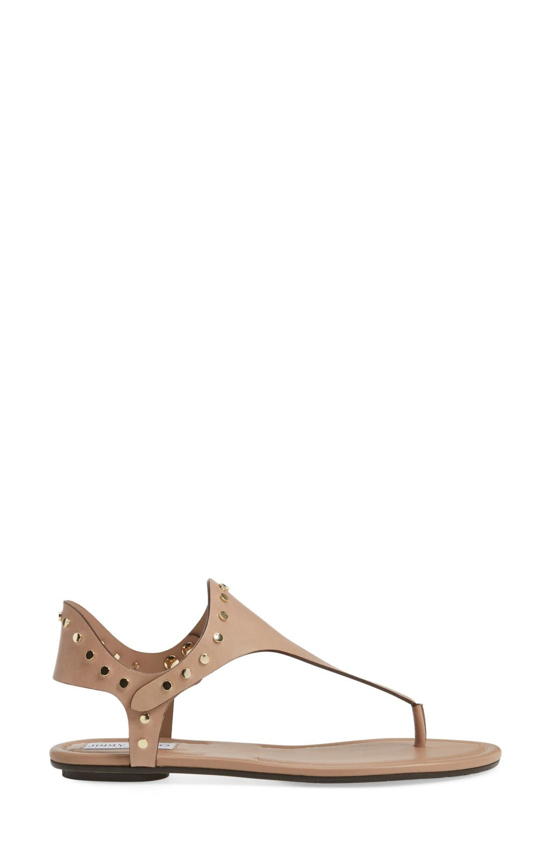 Alternate Image 4  - Jimmy Choo Dara Studded T-Strap Sandal (Women)