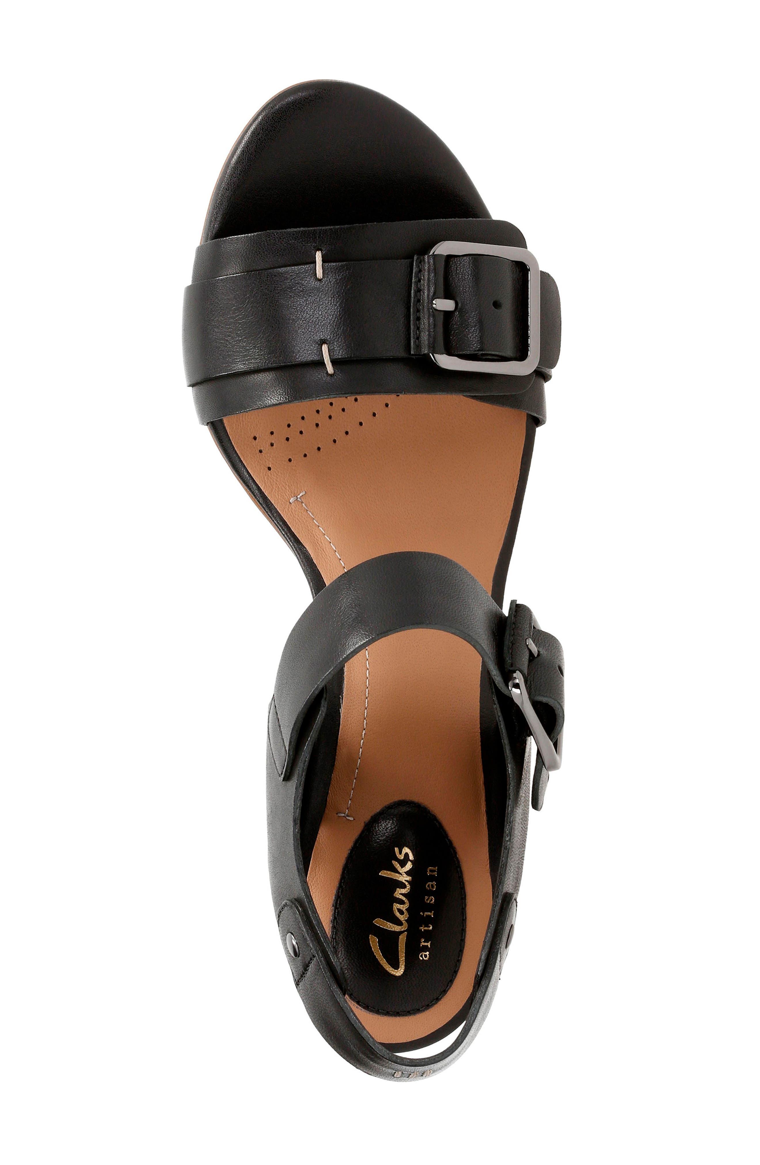 Ralene Dazzle Sandal,                             Alternate thumbnail 4, color,                             Black Leather