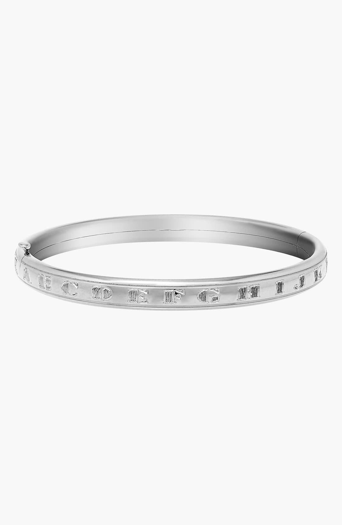 Mignonette 'A to Z' 14k White Gold Bracelet (Baby Girls)