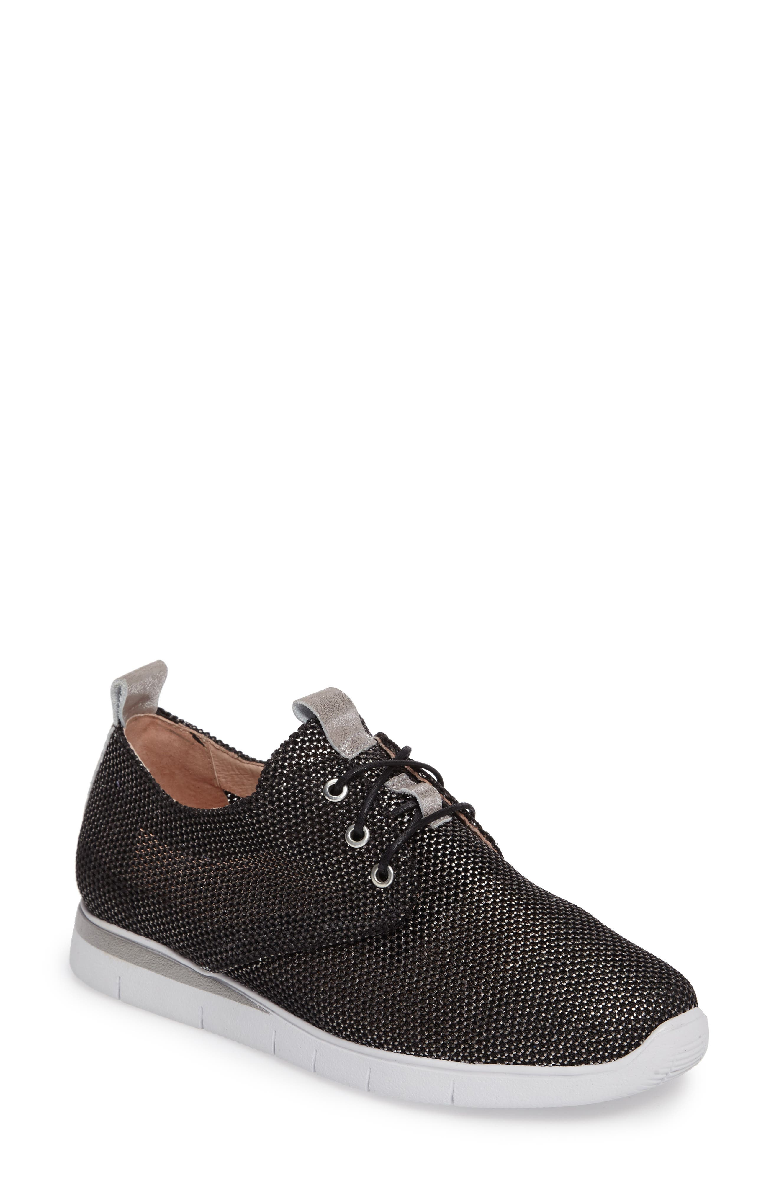 Gala Perforated Sneaker,                             Main thumbnail 1, color,                             Bionic Black Leather