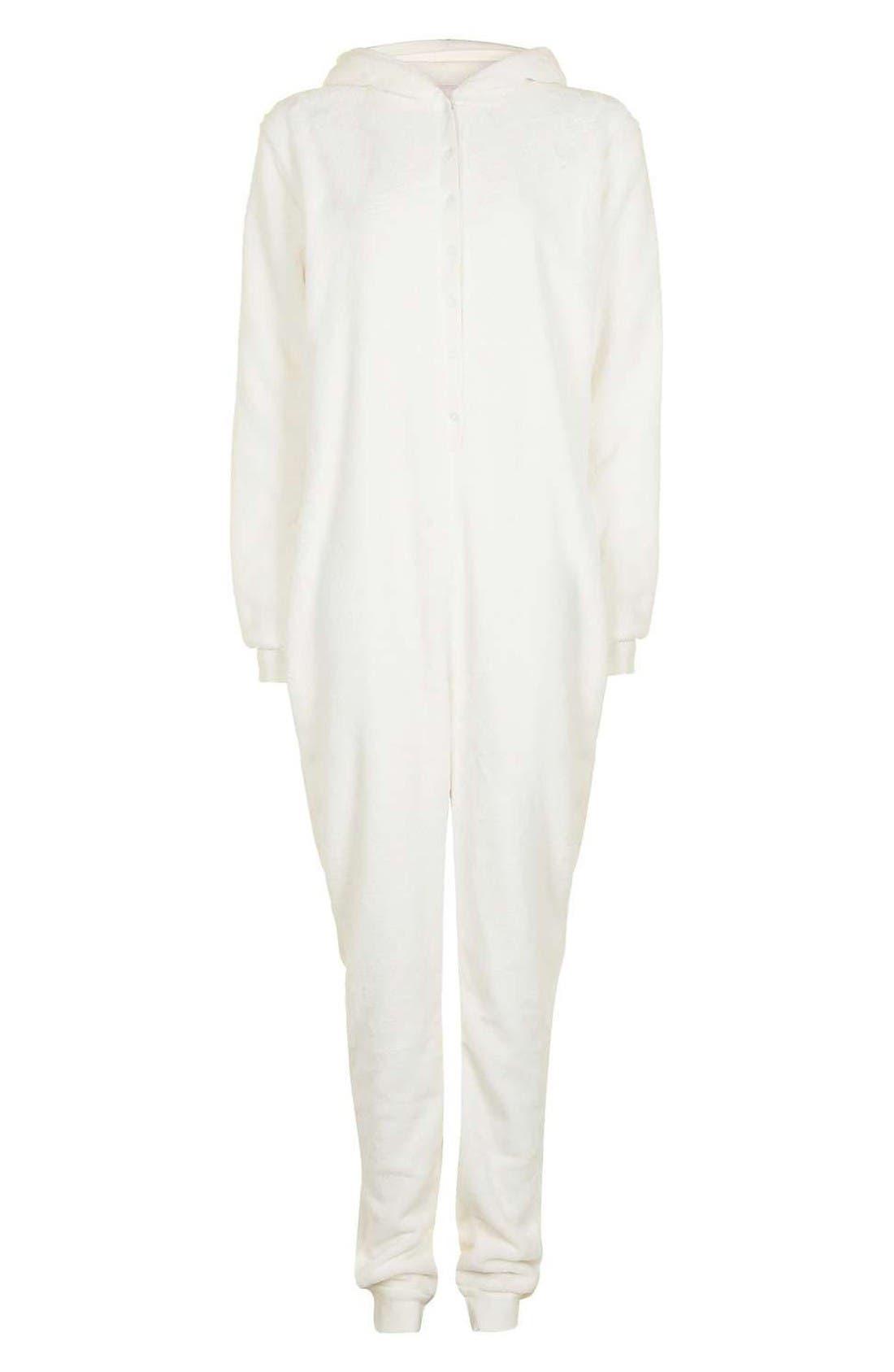 Alternate Image 4  - Topshop Unicorn One-Piece Pajamas