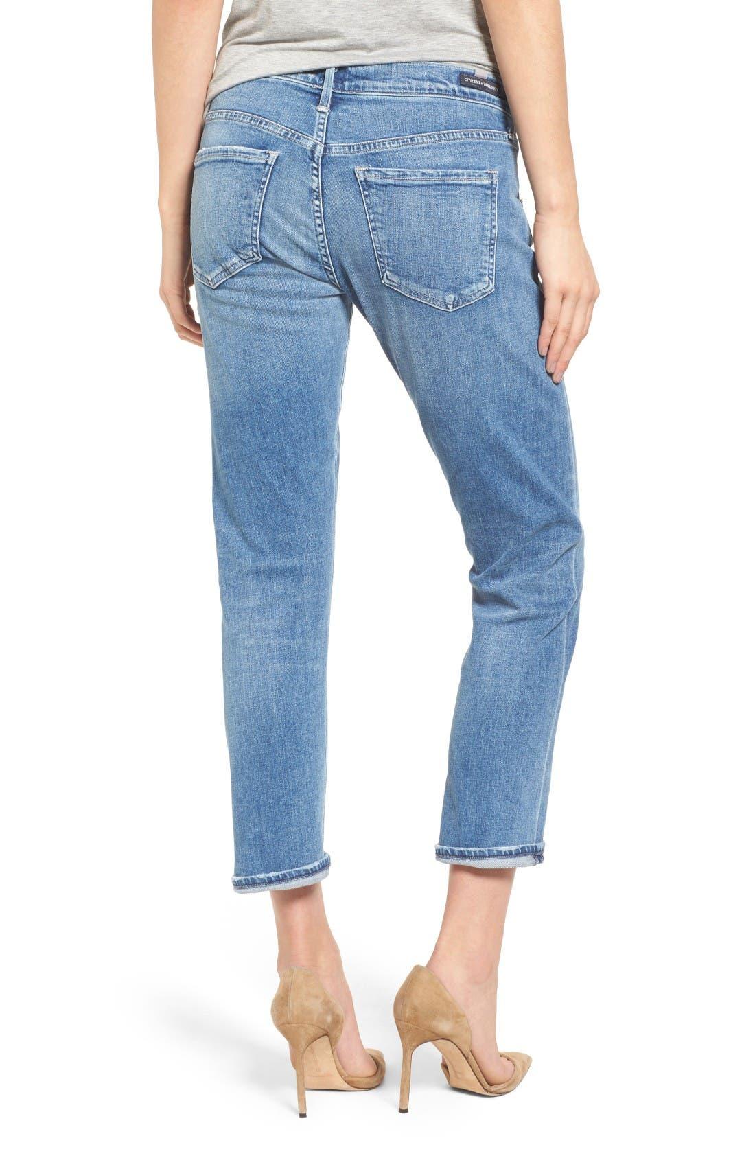 Emerson Slim Boyfriend Jeans,                             Alternate thumbnail 2, color,                             Pacifica