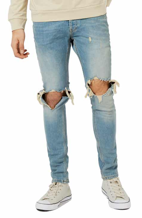 55ae4bf44053 Topman Ripped Stretch Skinny Jeans