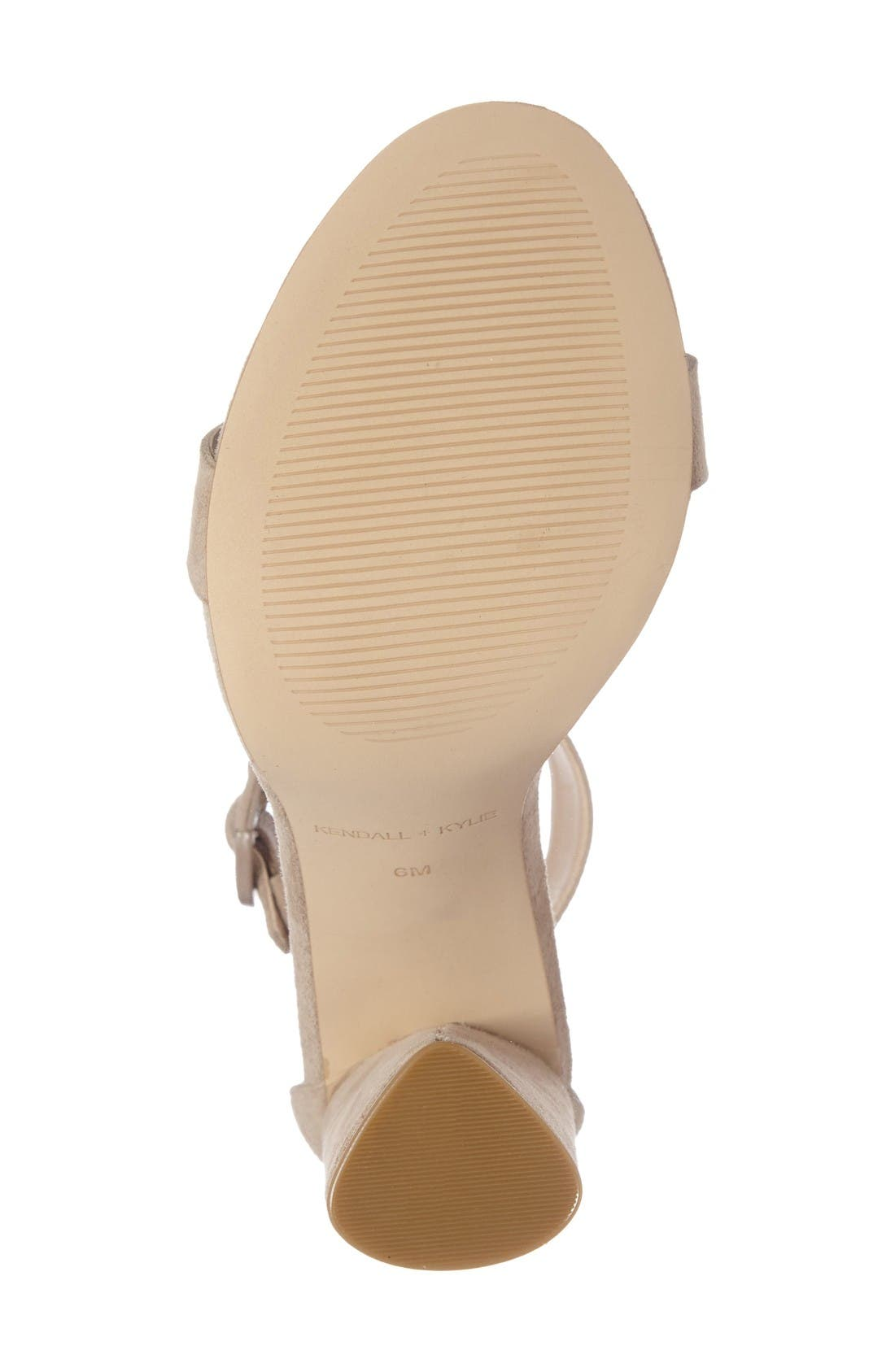 Giselle Strappy Sandal,                             Alternate thumbnail 4, color,                             Sughero Suede