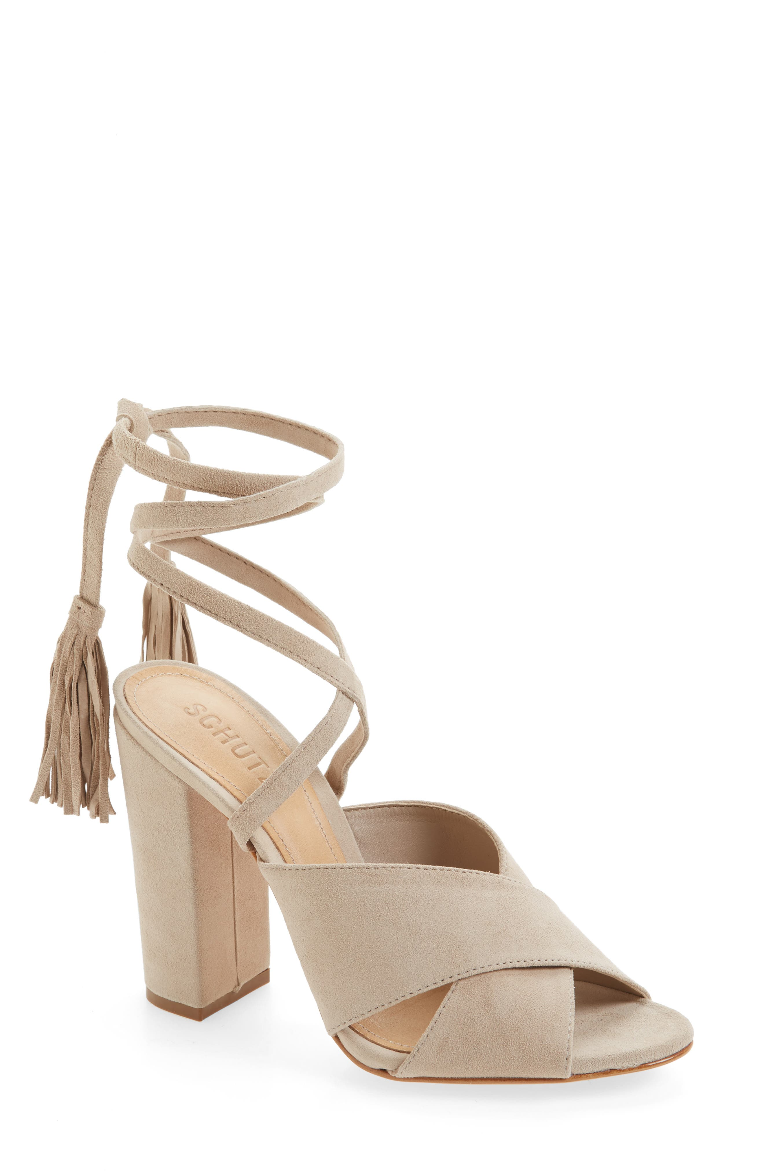 Main Image - Schutz Damila Wraparound Tassel Sandal (Women)