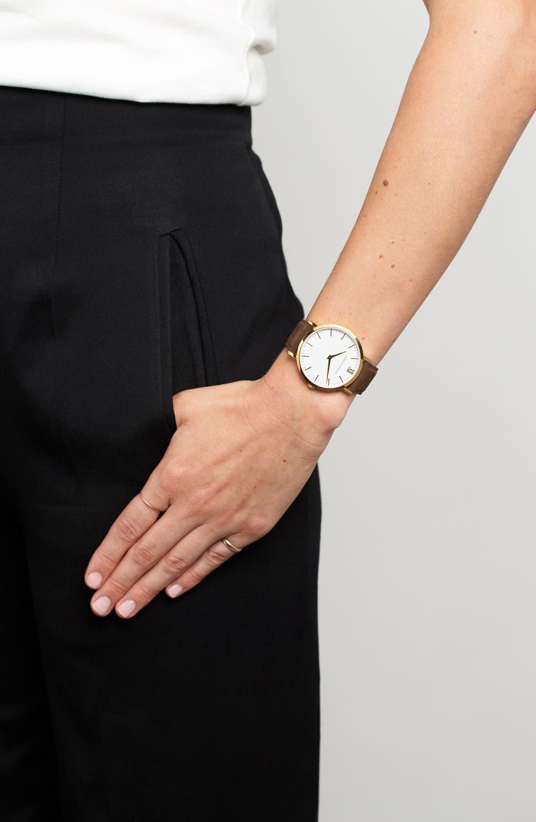 Alternate Image 6  - Larsson & Jennings 'Lugano' Leather Strap Watch, 40mm