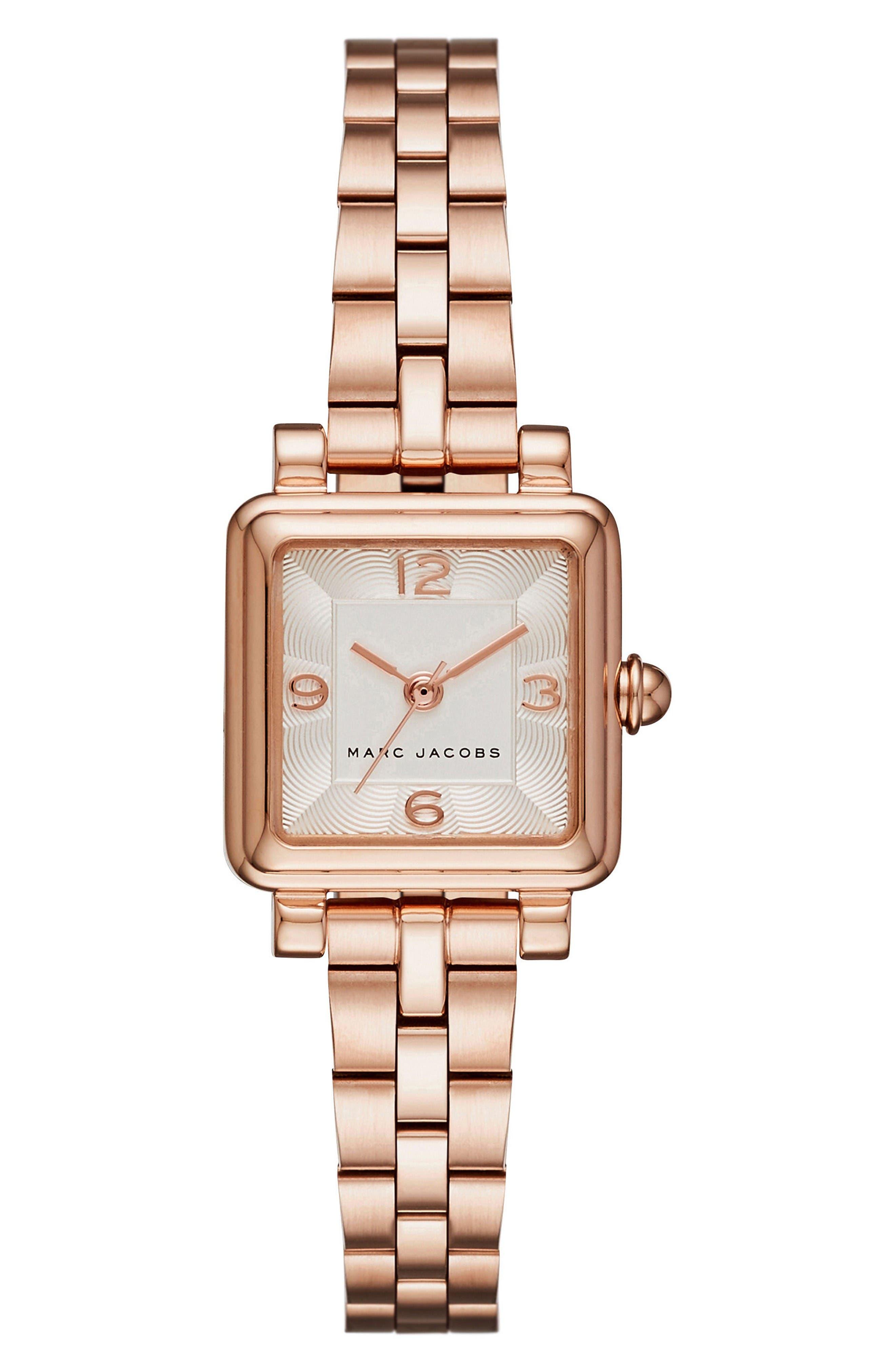 Vic Bracelet Watch, 20mm,                         Main,                         color, Rose Gold/ White Satin